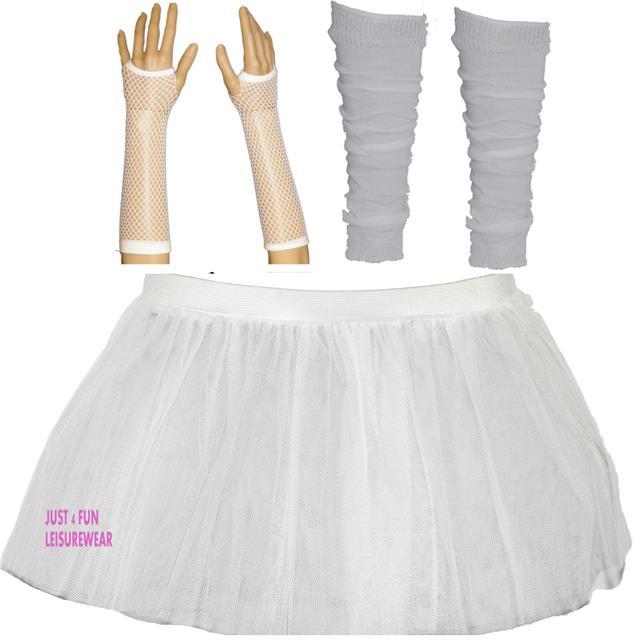 jupe tutu fluo jambi res gants r sille ensemble fille soir e enfants ann es 80 ebay. Black Bedroom Furniture Sets. Home Design Ideas