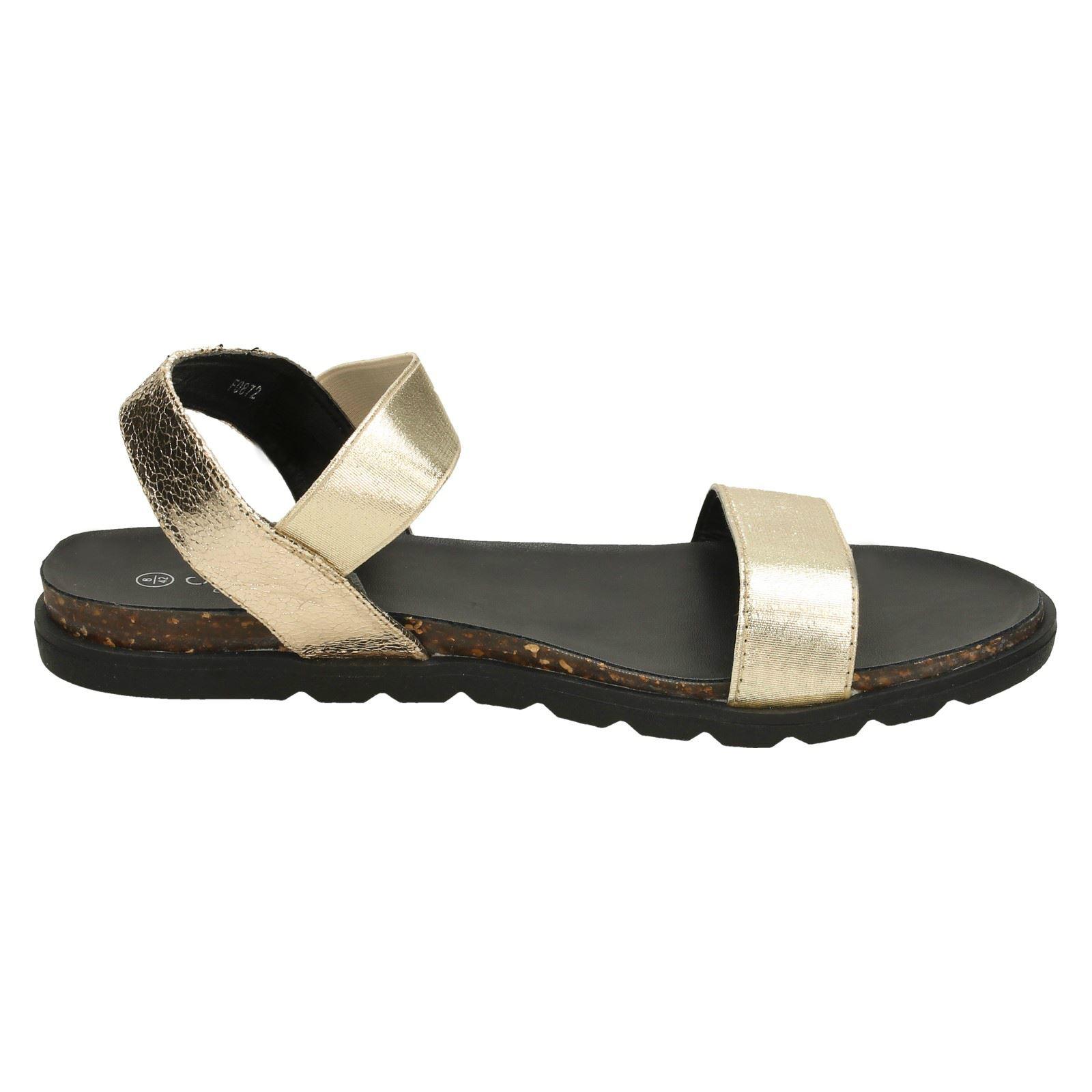 Savannah L6R032 Ladies Black Toe Post Sandals R21A