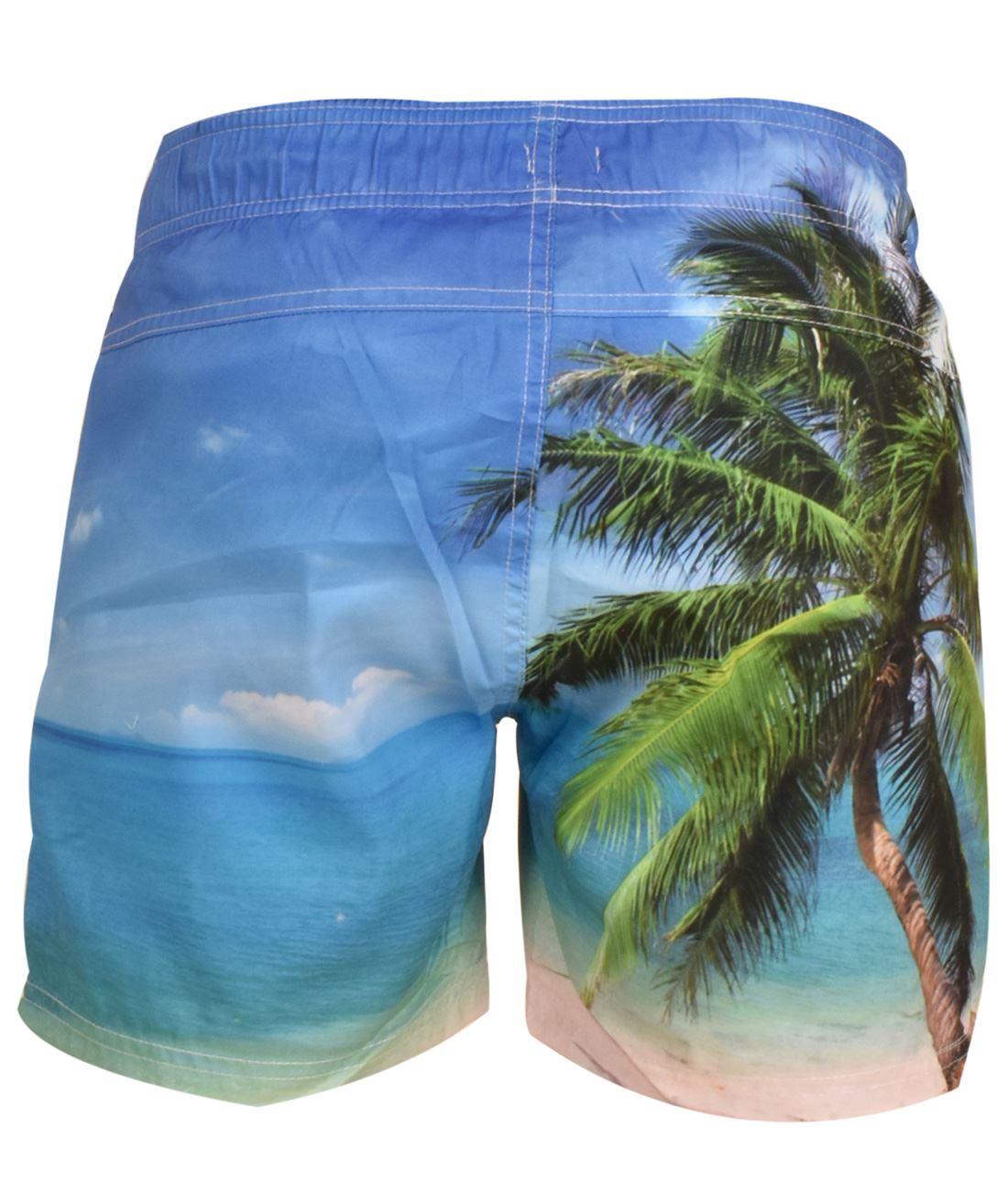 Crosshatch-Hawaiin-Sun-Set-Mens-Holiday-Swim-Shorts-Summer-Beach-Trunks-S-2XL thumbnail 5