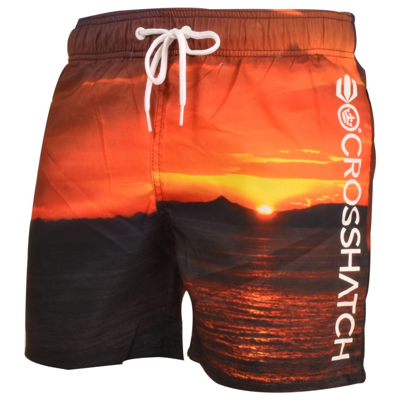 Crosshatch-Hawaiin-Sun-Set-Mens-Holiday-Swim-Shorts-Summer-Beach-Trunks-S-2XL thumbnail 9