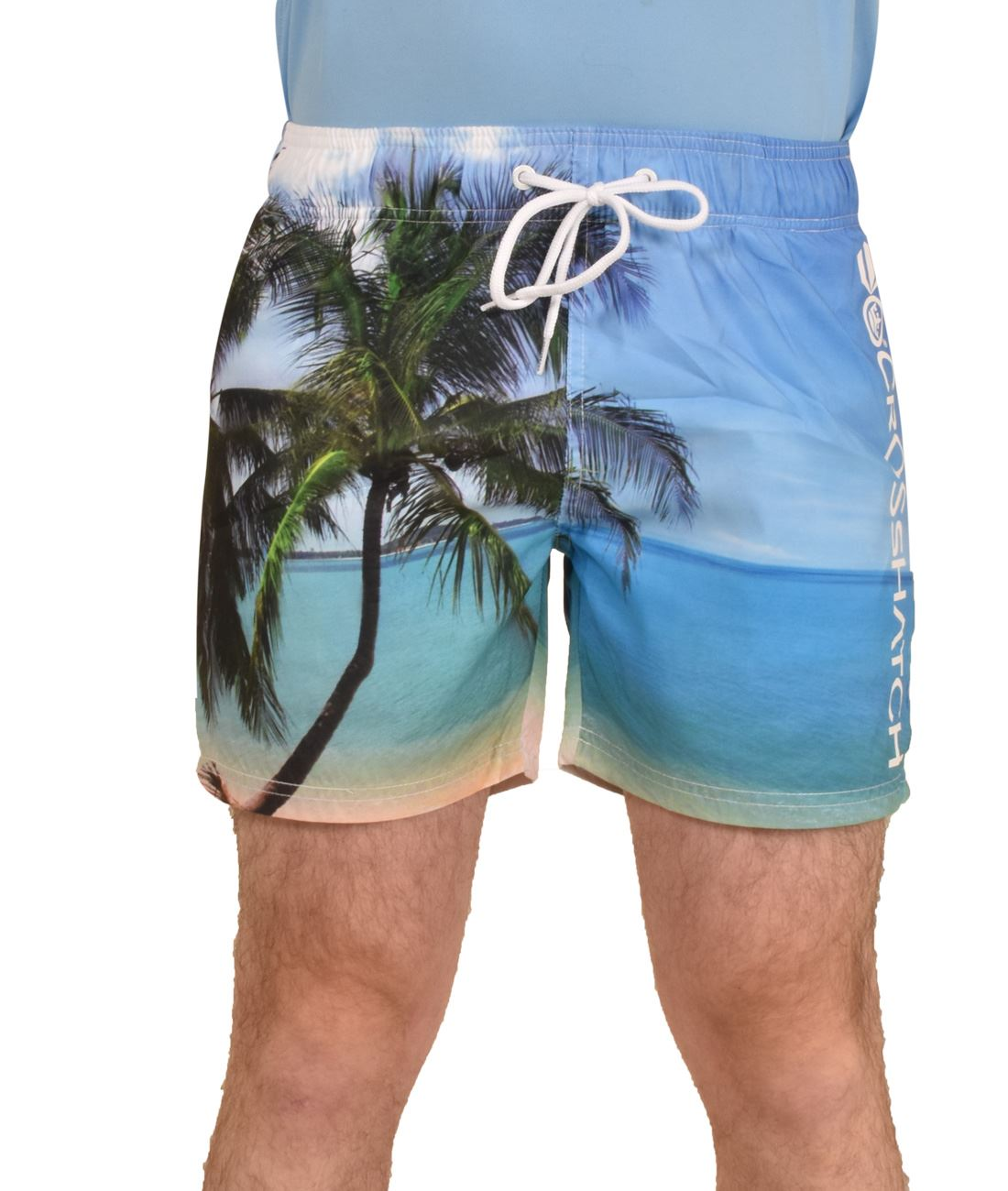 Crosshatch-Hawaiin-Sun-Set-Mens-Holiday-Swim-Shorts-Summer-Beach-Trunks-S-2XL thumbnail 7