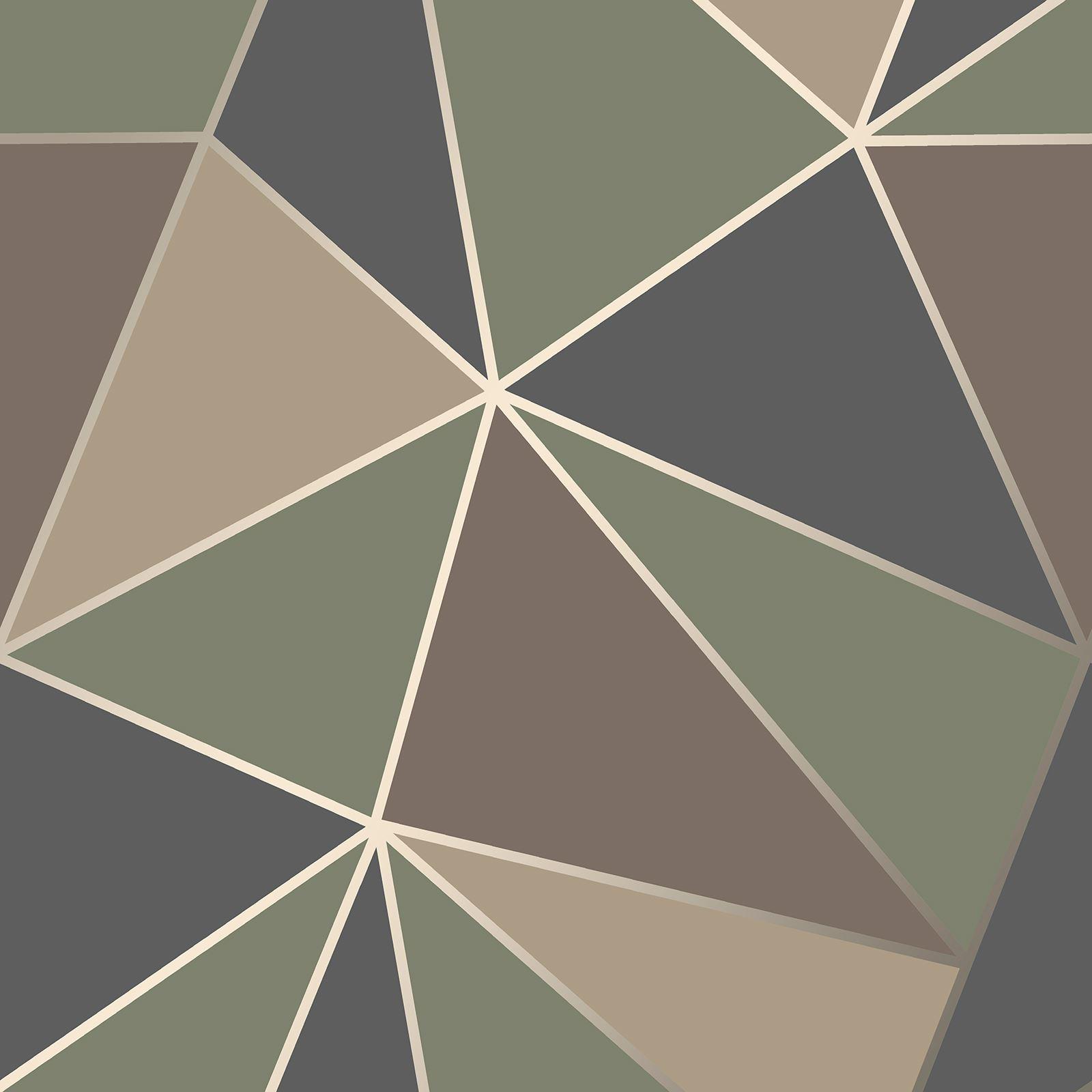 Apex Geo Wallpaper Rose Gold: GEOMETRIC WALLPAPER MODERN DECOR TRIANGLES TRELLIS SILVER ROSE GOLD METALLIC