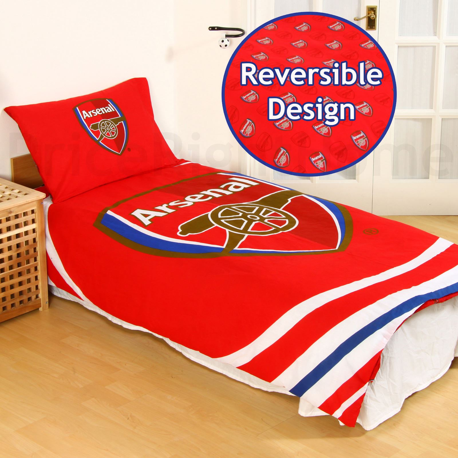 Football clubs set housse de couette simple double for Housse de couette simple