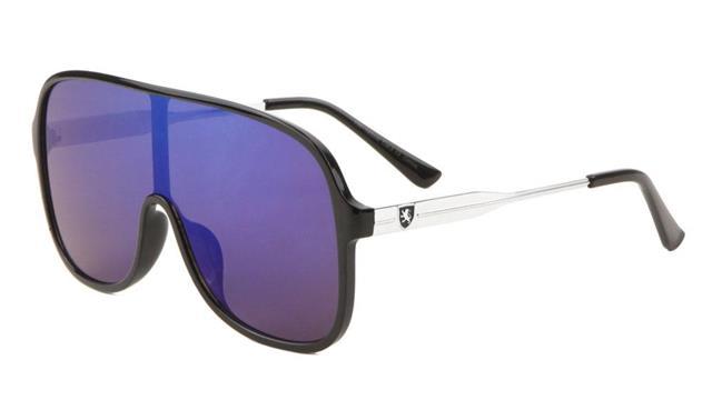 Khan-Gafas-Sol-DE-DISENADOR-HOMBRE-DE-MUJER-PILOTO-Visera-Escudo-Retro-100-UV