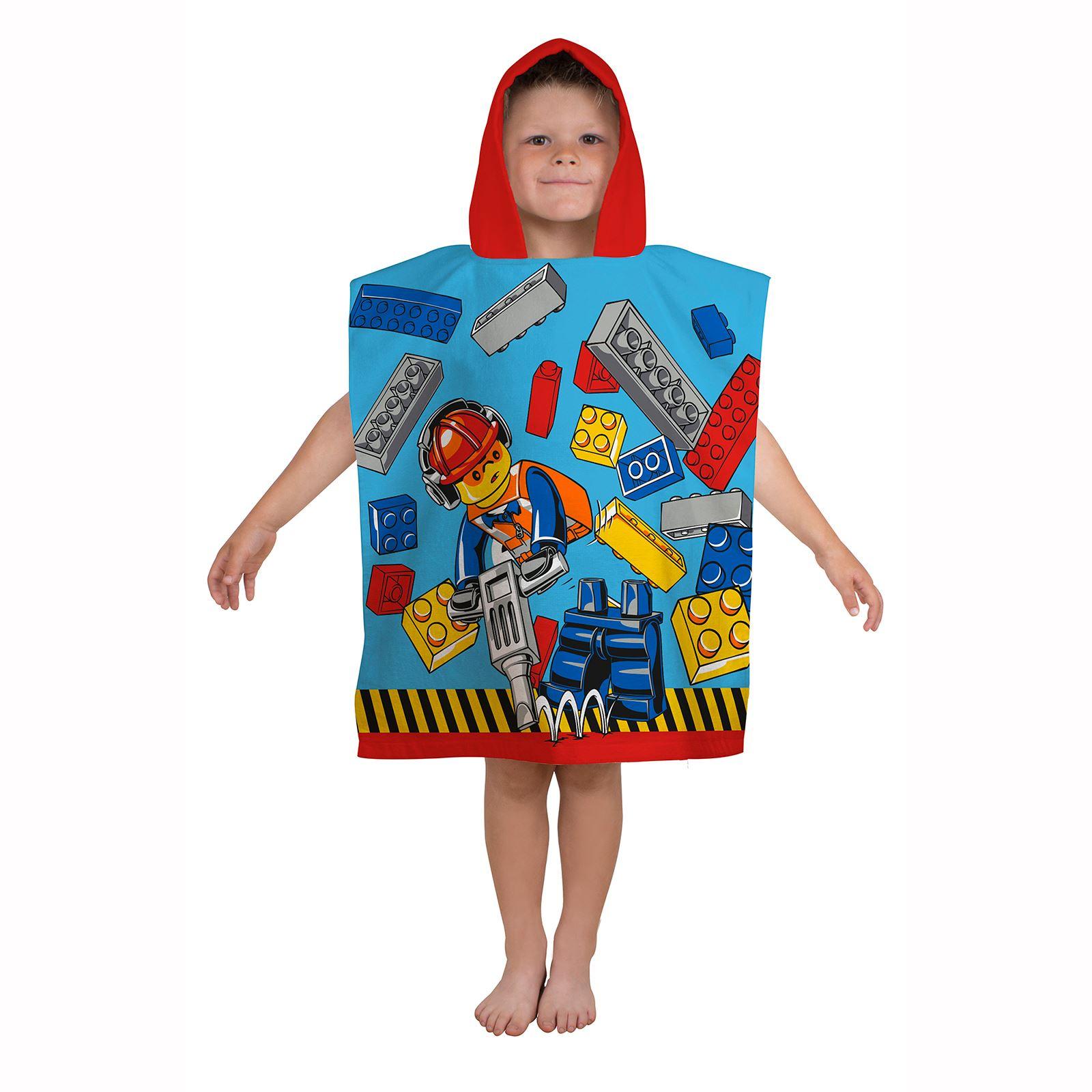 lego handt cher ponchos kinder baumwolle strandtuch star wars dc comics ebay. Black Bedroom Furniture Sets. Home Design Ideas