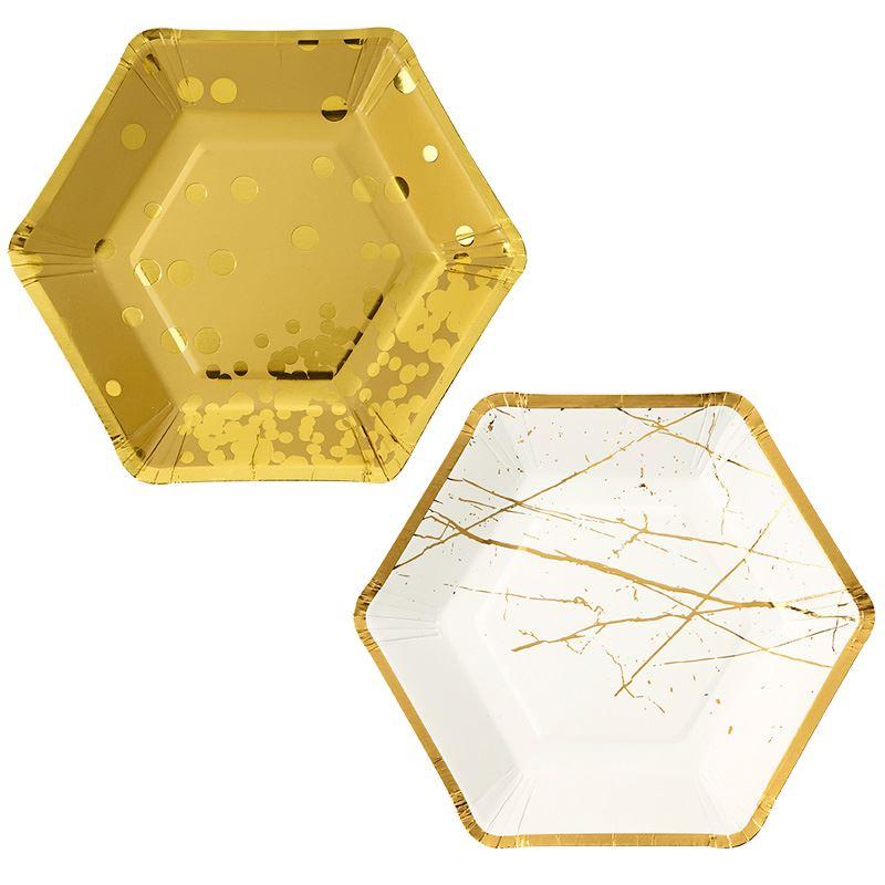 Talking-Tables-Nordique-Argent-Metallique-Dore-Fete-Noel-Assortiment-De-Fete