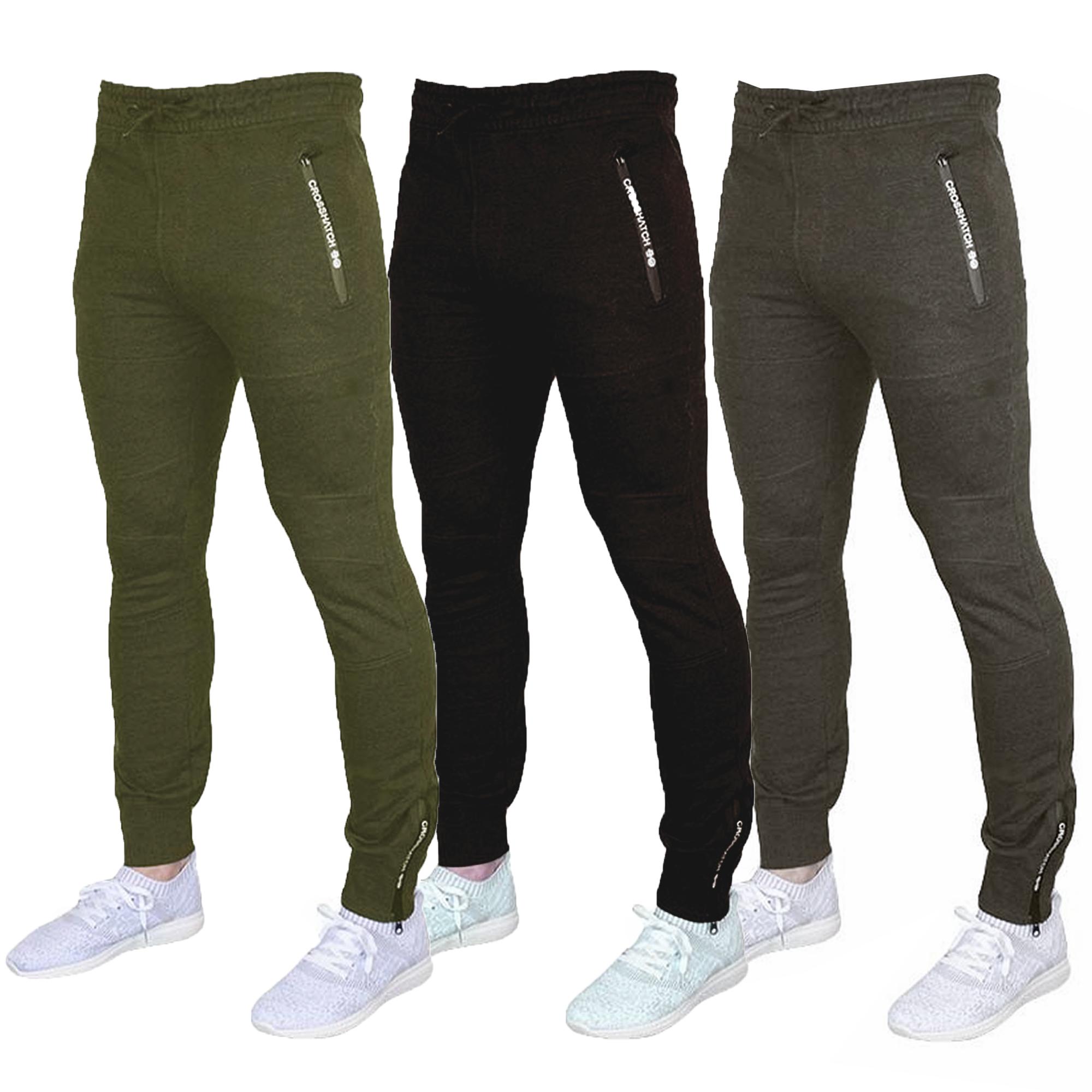 Bas Crosshatch Hommes Course Côtelé Jogging Pantalon Chaude Mode Gym vadSwSx5