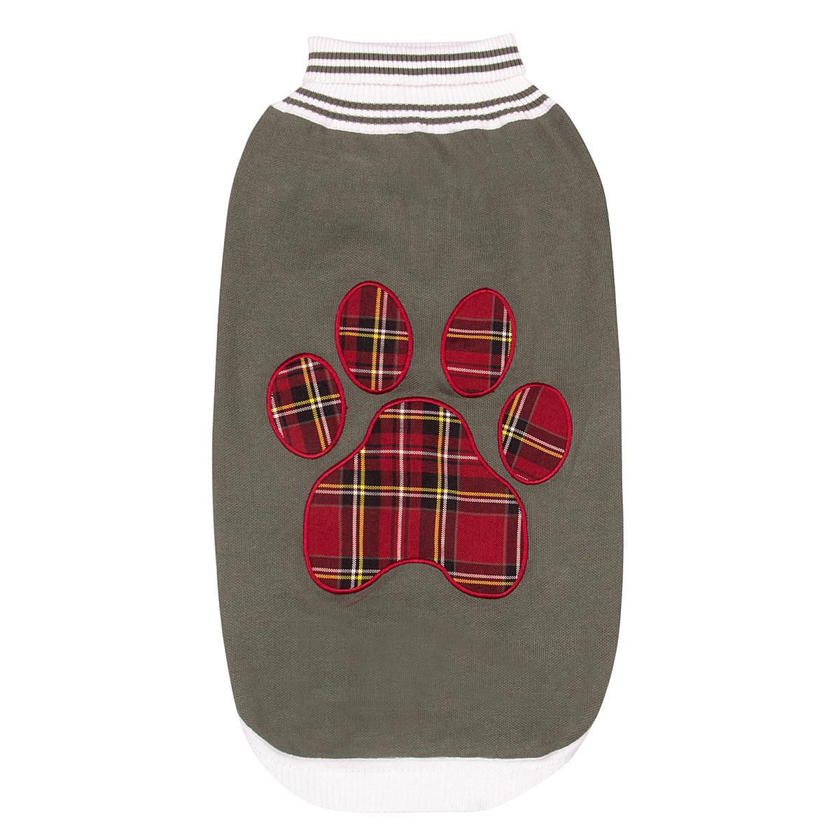 Halo Ec Rot Rot Rot Plaid Hunde Pfote Pullover  | Moderne und elegante Mode  f59b50