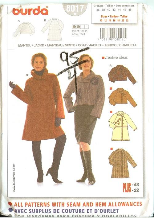OOP Misses Womens Coat or Jacket Outerwear Sewing Pattern You Pick ...
