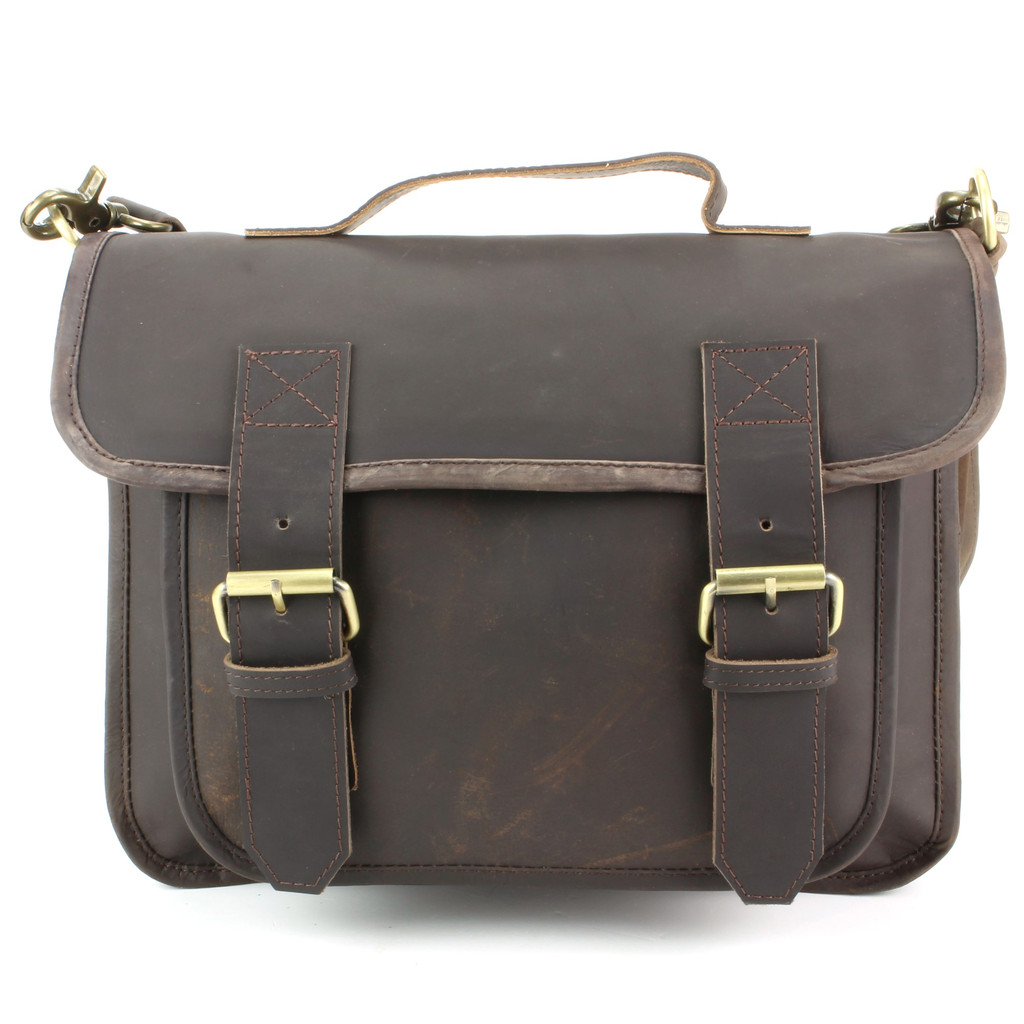 Messager Dames Sac Authentique Hommes Cartable Bandoulière Marron En Cuir IZxvn8O