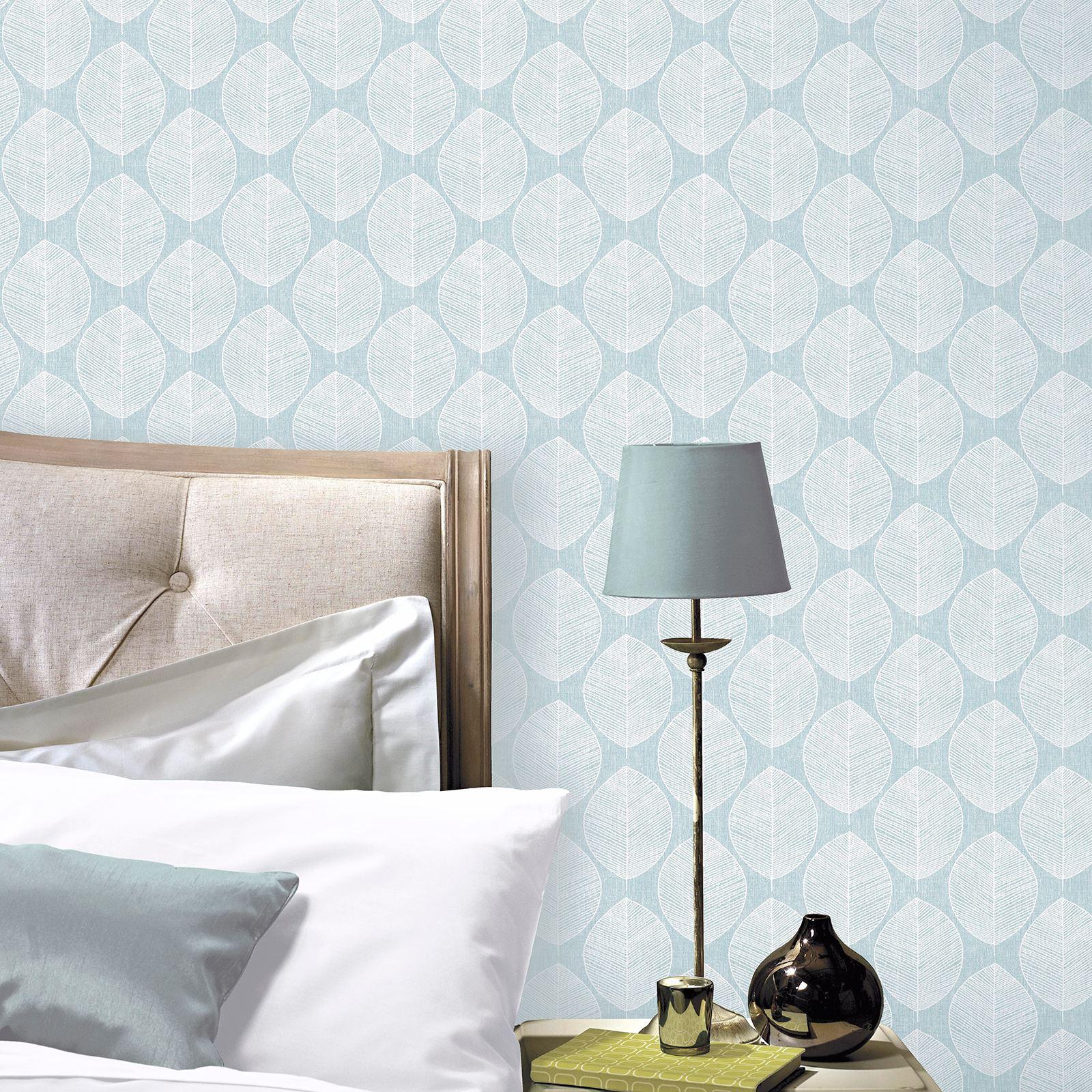 Indexbild 7 - Arthouse Scandi Blatt Tapete - Grau Rosa Blaugrün Schlafzimmer Flur Lounge