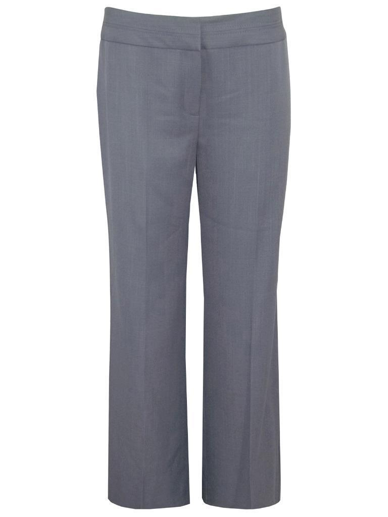 Marks-amp-Spencer-elegante-gris-pernera-recta-pantalones-con-costuras-Banda