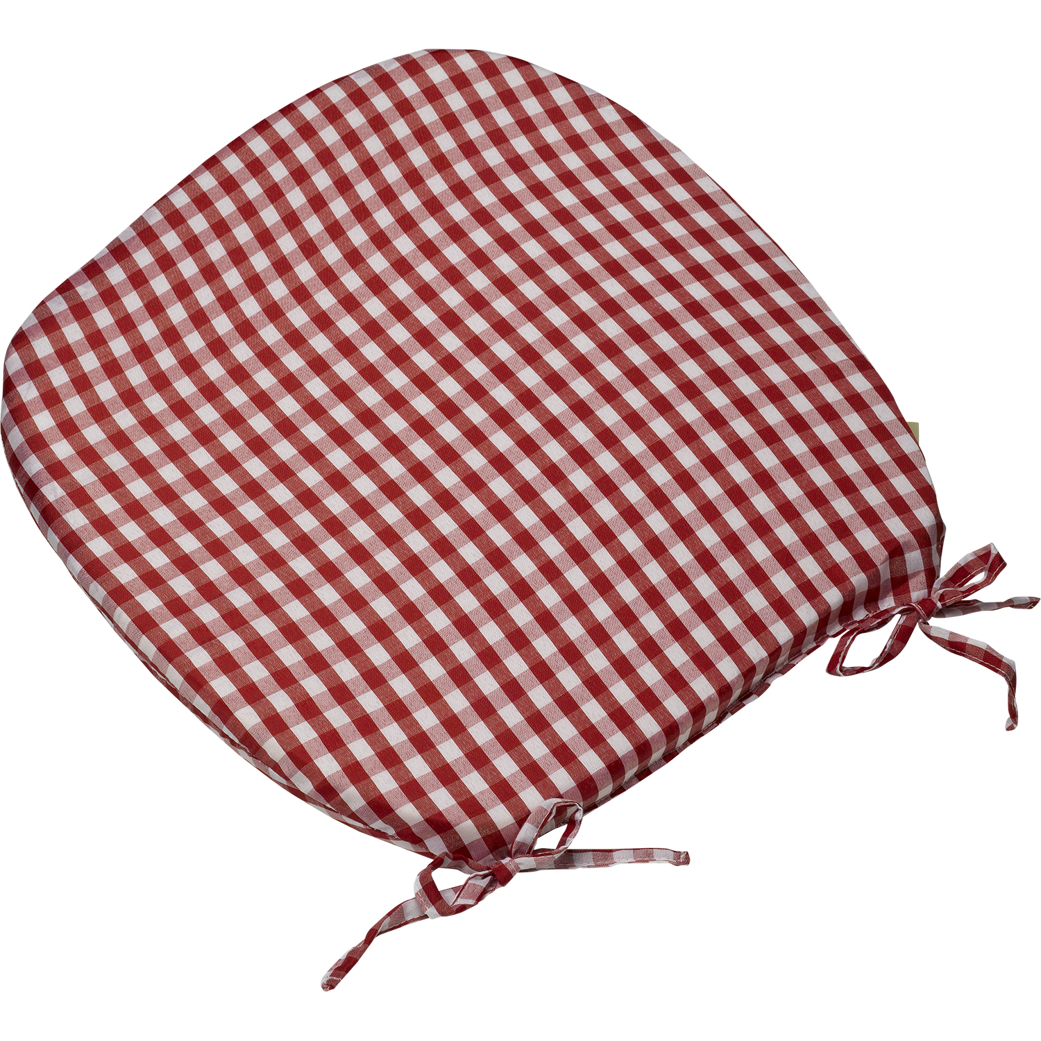 Gingham Check Tie On Seat Pad 16 X 16 Kitchen Outdoor Dining Chai
