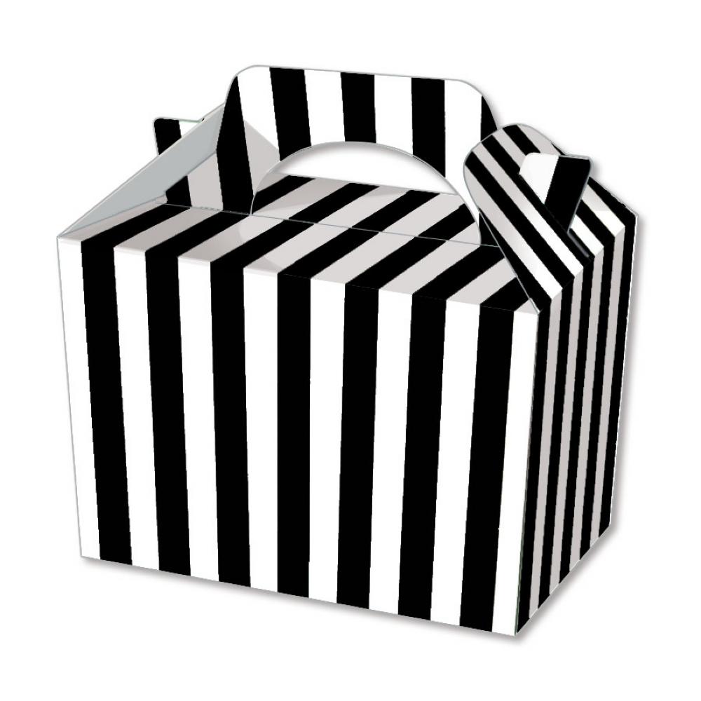 10 gestreift boxen w hlen aus essen mittagessen karton streifen popcorn ebay. Black Bedroom Furniture Sets. Home Design Ideas