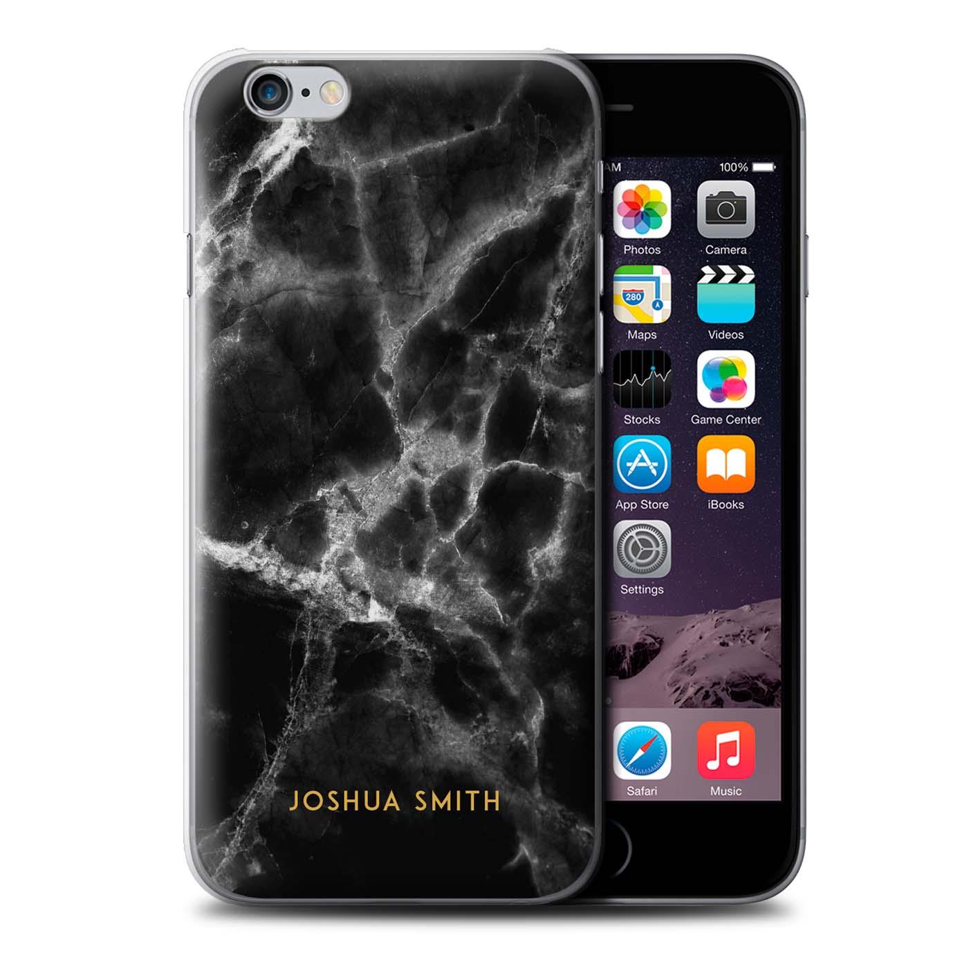 Personalizzato-Marmo-cutodia-per-Apple-iPhone-6-Plus-5-5-Nome-Iniziale-Cover