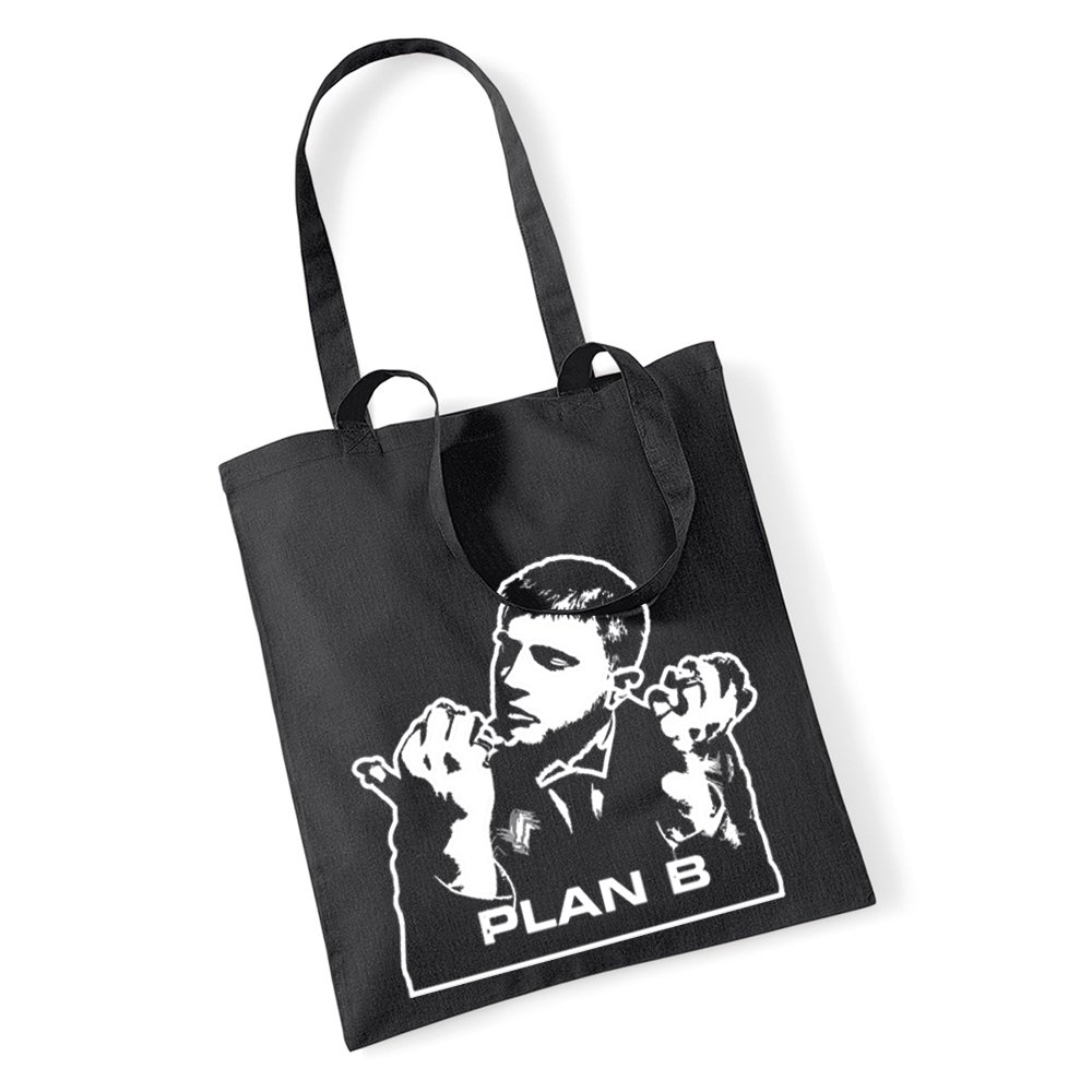 Plan B Tragetasche, Einkaufstasche, Zwillings Henkel Tasche für Leben Music Ben