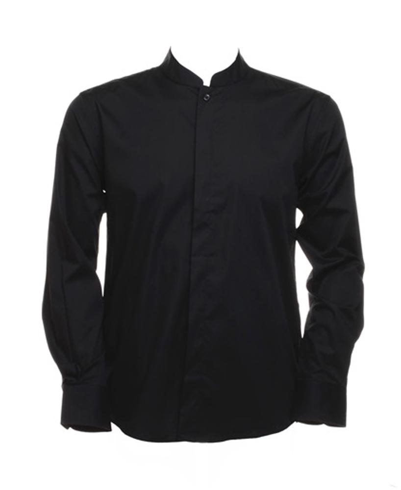 Mens bargear shirt mandarin collar bar long sleeved shirt for Chinese collar shirts for men