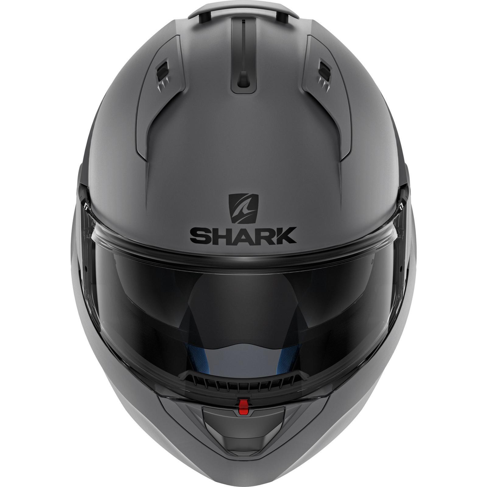 Shark-Evo-One-2-Vide-Uni-Mat-Anthracite-avant-Basculable-Casque-Moto-Ama-Bouchon