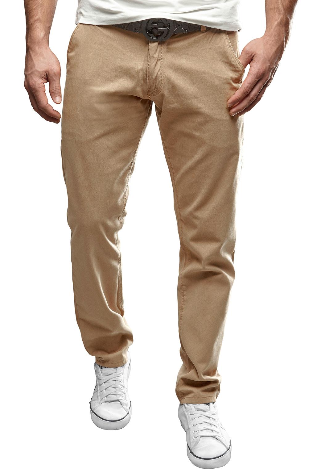 Merish men's chino trousers regular style jeans black/brown ...