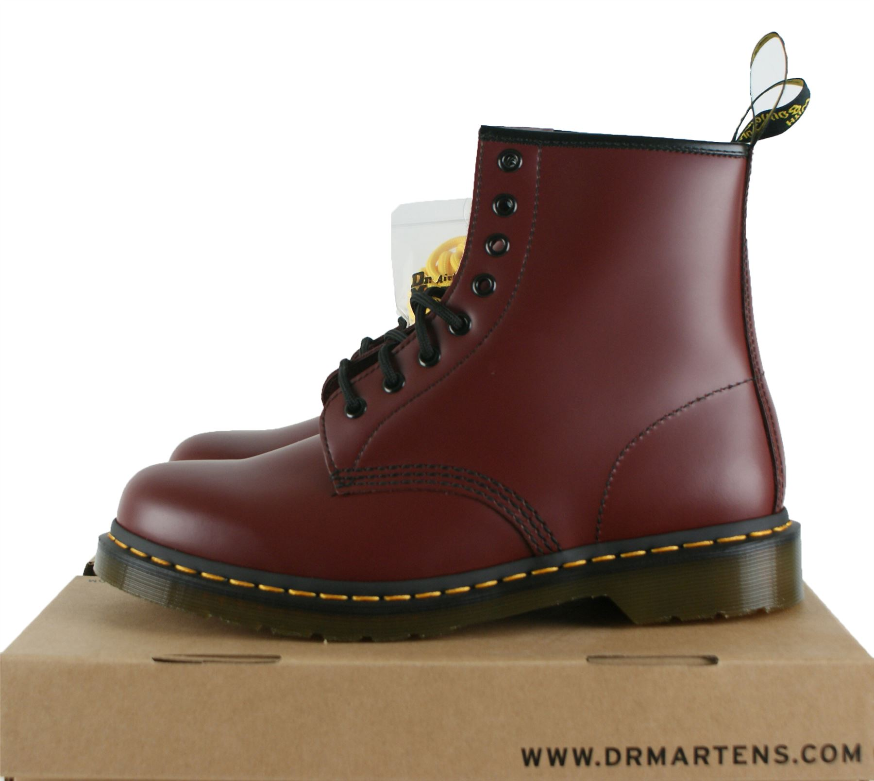 uk3 uk15 dr martens 1460 leather classic airwair 8 eyelet men boots cherry red ebay. Black Bedroom Furniture Sets. Home Design Ideas