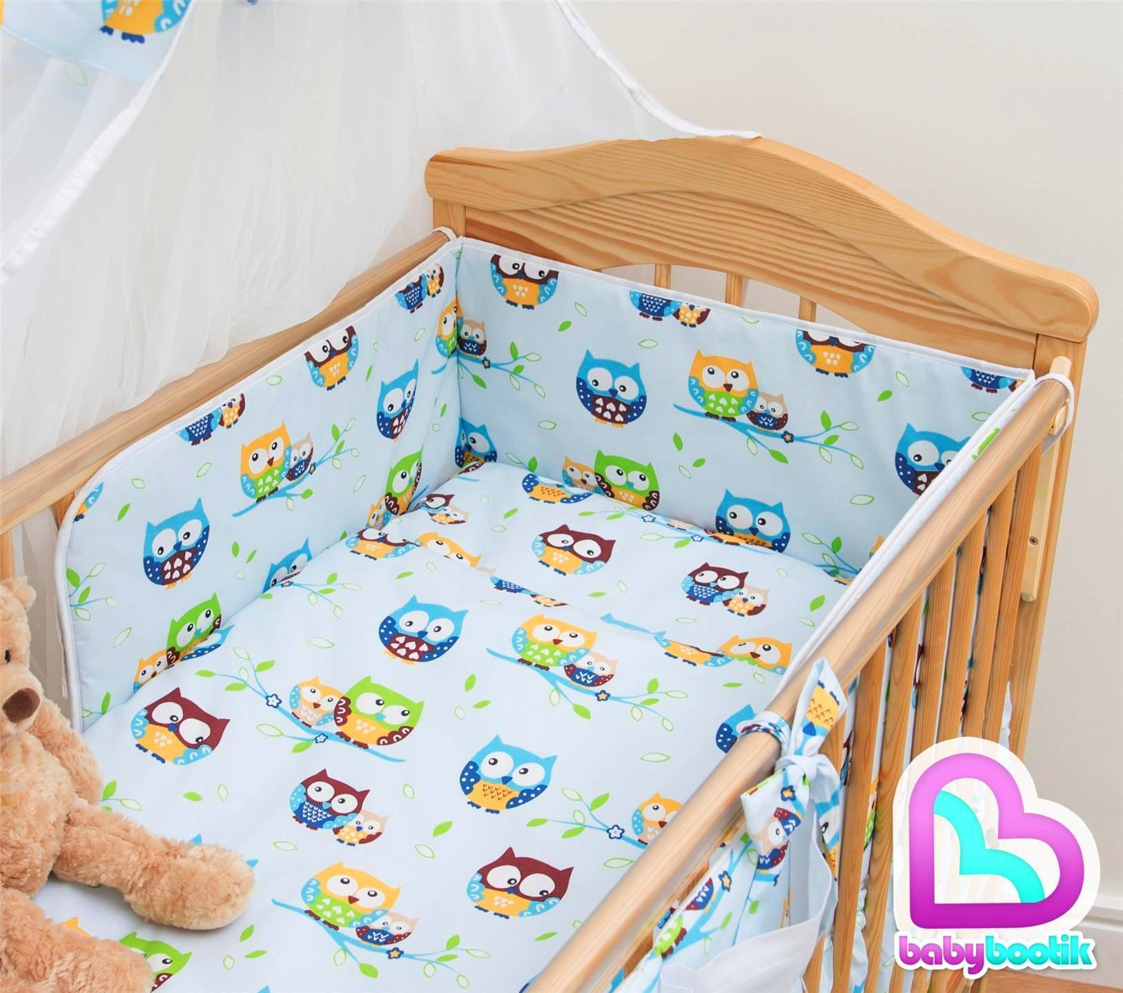 5 piece baby kinderzimmer kinderbett bettw sche set - Kinderbett set ...