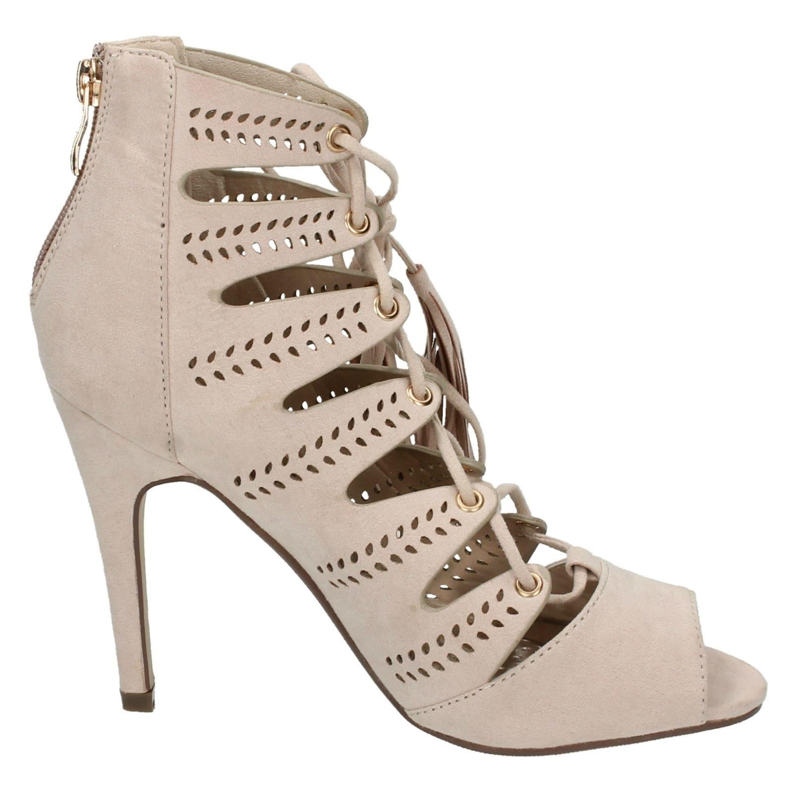 Kidderminster FootwearF10475 - Sandali Donna, Beige (Beige (Marroncino)), 41