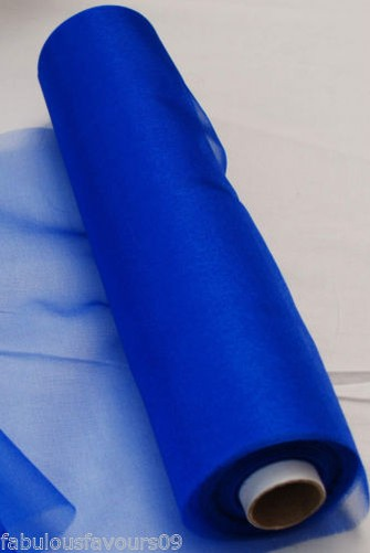 25m transparent organza rouleau de tissu pour mariage echarpe noeud de chaise ebay