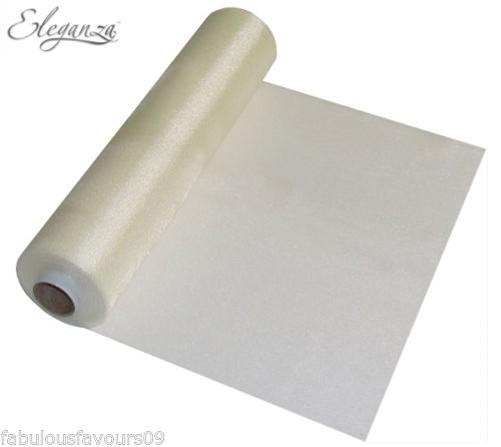 25m transparent organza rouleau de tissu pour mariage - Noeud de chaise organza pas cher ...