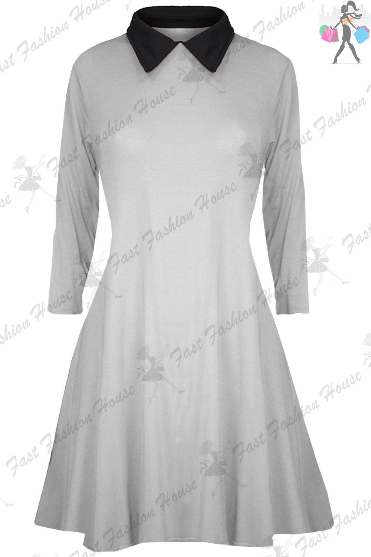 Black dress white collar ebay
