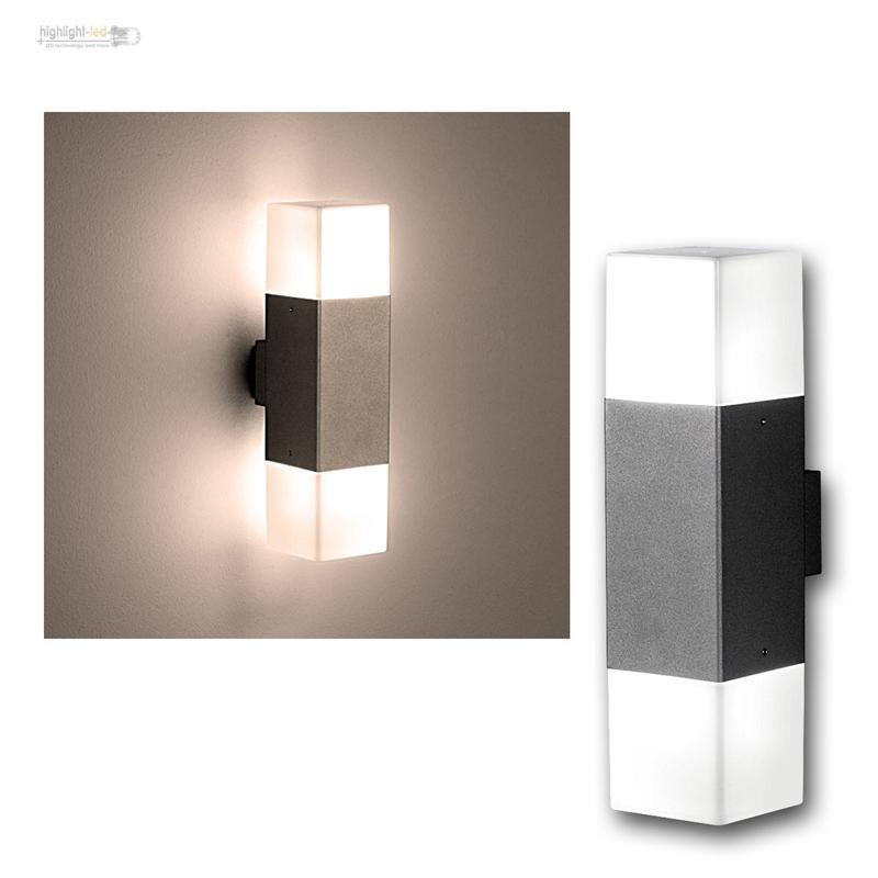 Lampe murale led pour l 39 ext rieur et int rieur clairage for Lampe murale exterieur