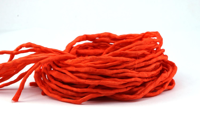 1m-tenida-a-mano-habotai-cordon-de-seda-color-a-elegir-AMARILLO-NARANJA