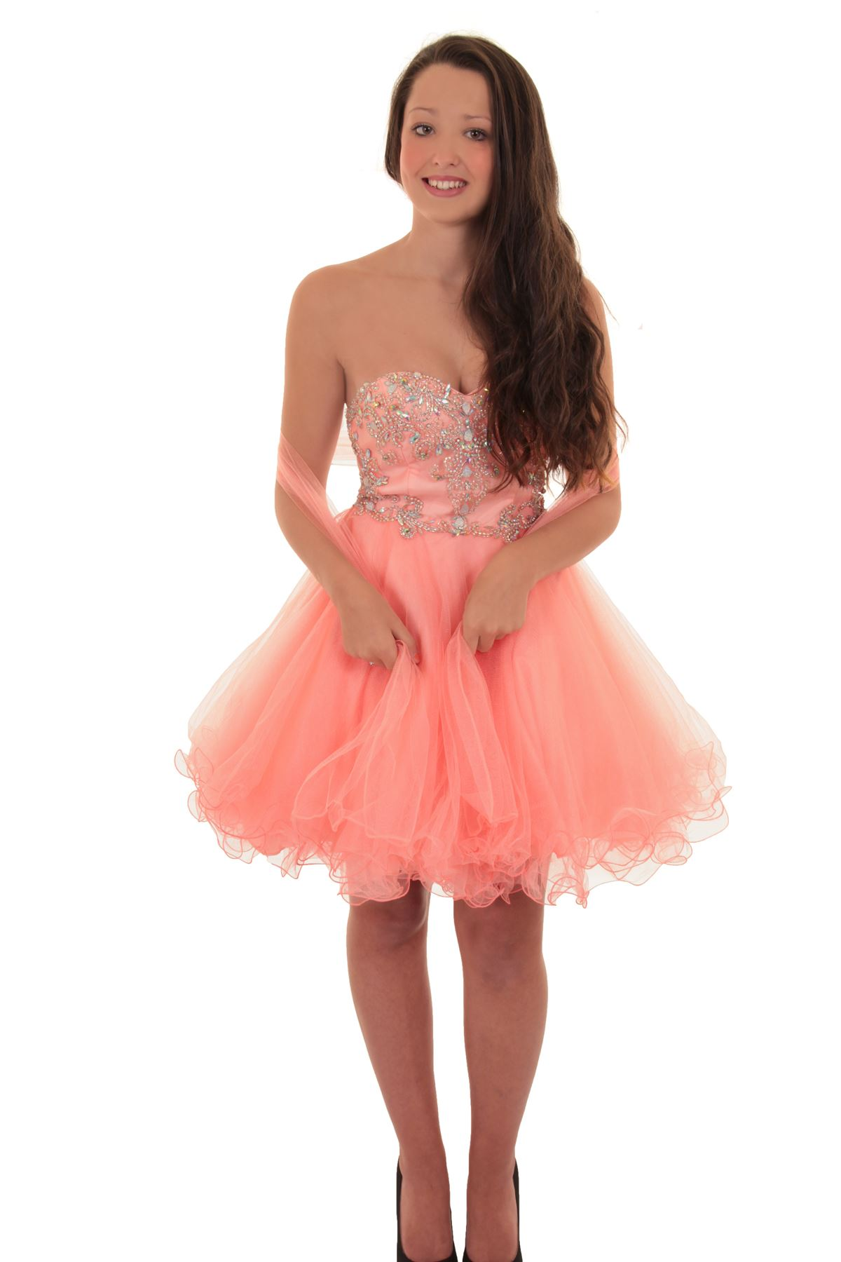 Short Mini Boobtube Chiffon Puff Tutu Prom Bridesmaid Mesh Cocktail ...