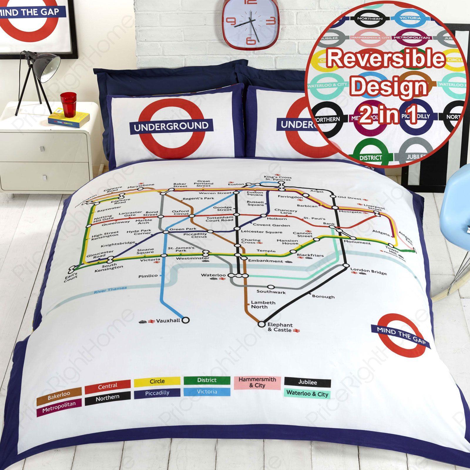 MONDE-VILLES-HOUSSE-DE-COUETTE-ENSEMBLES-DISPONIBLE-EN-SIMPLE-amp-DOUBLE-LONDON