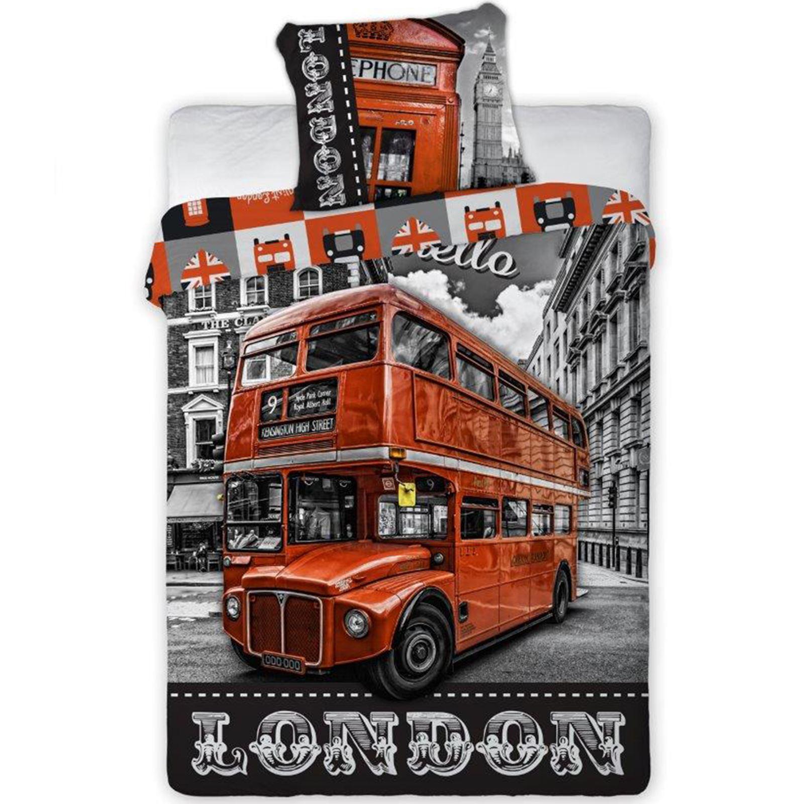 MONDE-VILLES-HOUSSE-DE-COUETTE-ENSEMBLES-SIMPLE-DOUBLE-ROI-LONDON-NEW-YORK