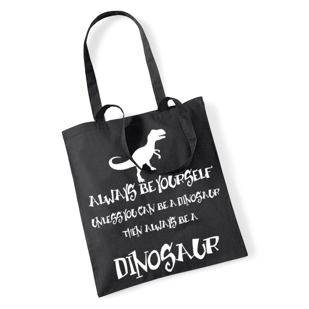 be a Dinosaurier Tragetasche, Einkaufstasche, Zwillings Henkel lustig Humor