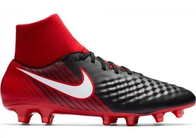 Nike Magista Onda Fútbol II Df Hombre Fg Fútbol Onda Tacos Zapatos de Fútbol Negro-Rojo 1801 22e021