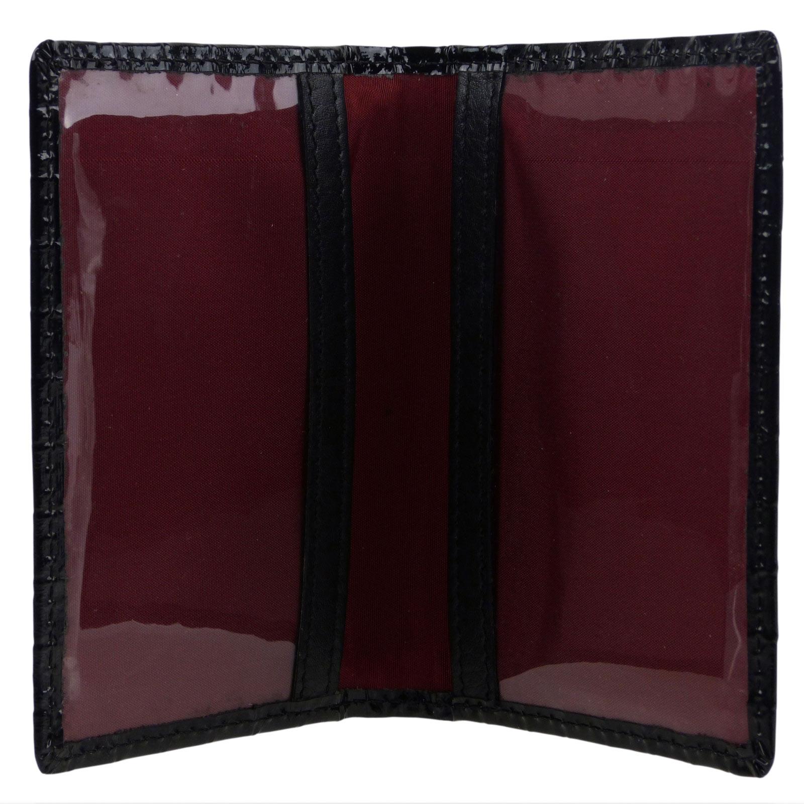 Top QUALITY Stivali in Pelle Borsa Wallet grandi Tri Fold Rosso Top Brand GOLUNSKI