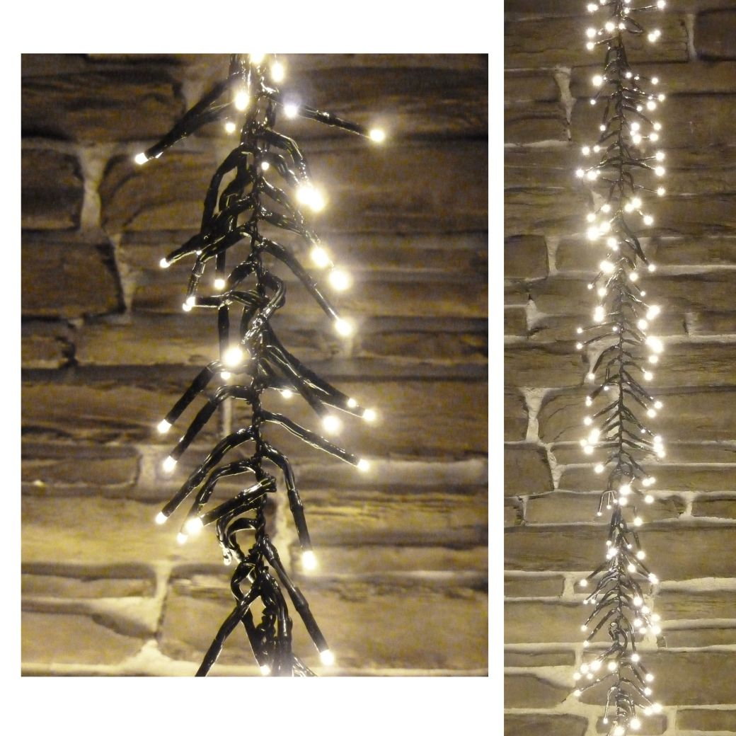 led timer holiday lights outdoor indoor warm white