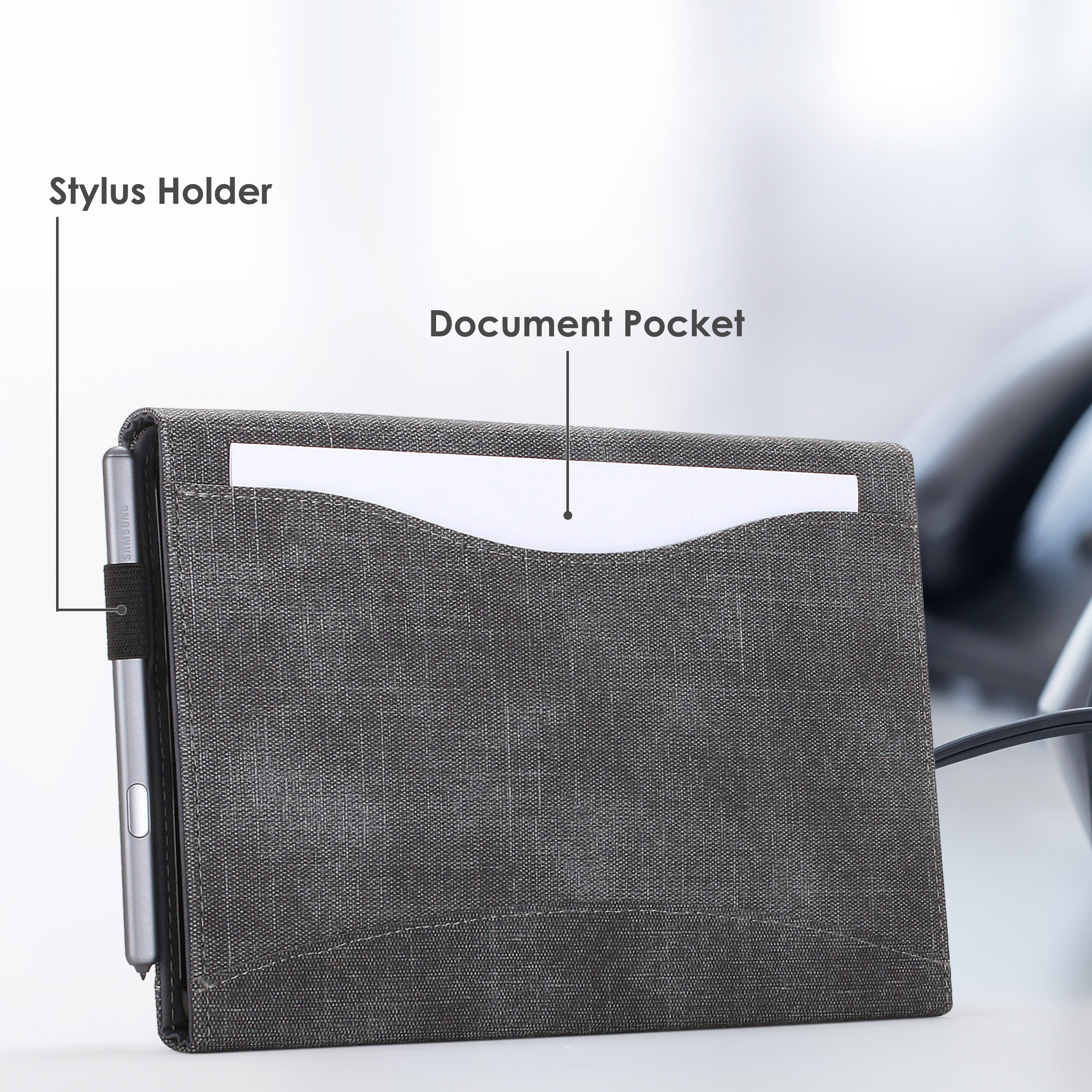 Samsung-Galaxy-Tab-S6-10-5-Case-Cover-Stand-with-Document-Pocket-amp-Sleep-Wake thumbnail 7