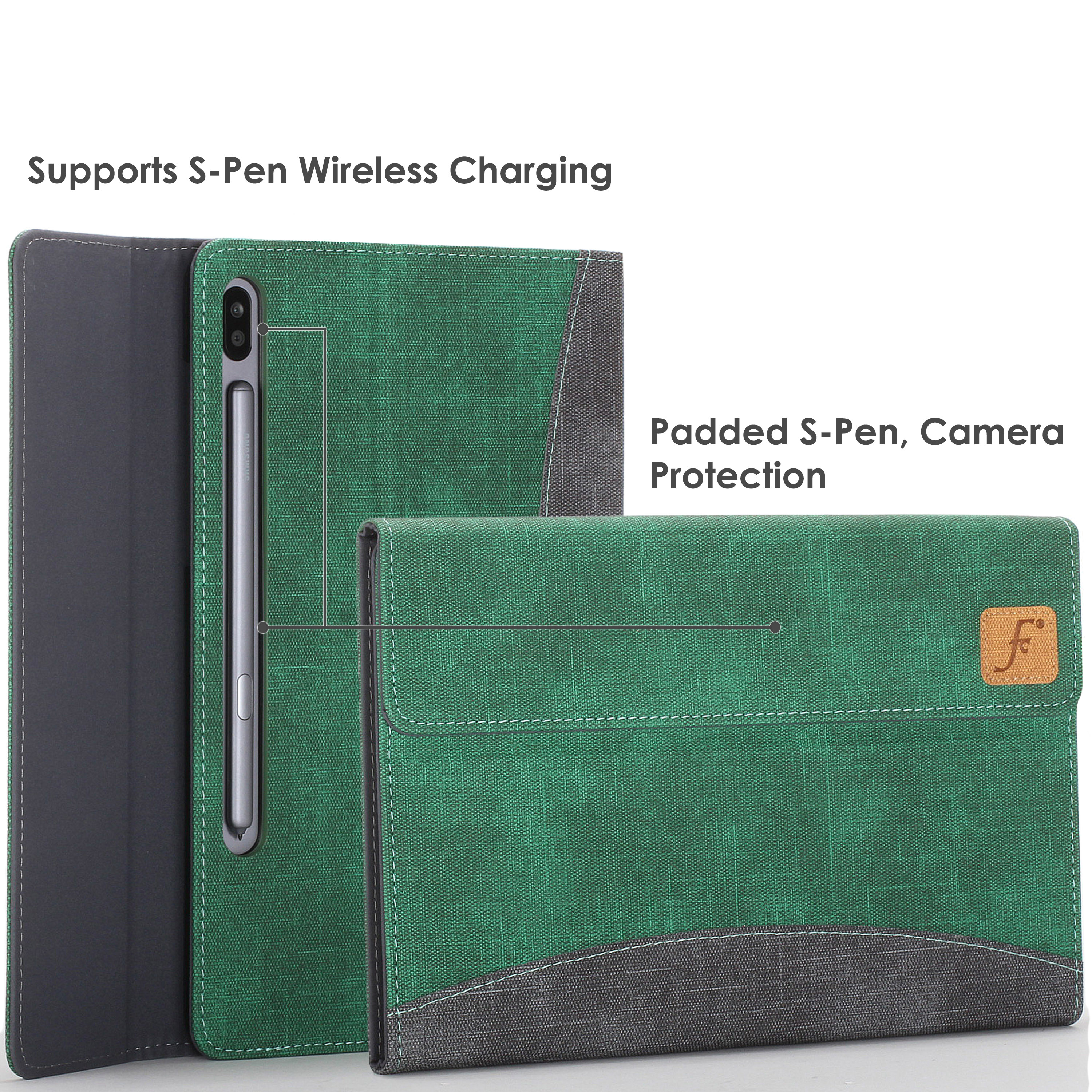Samsung-Galaxy-Tab-S6-10-5-Case-Cover-Stand-with-Document-Pocket-amp-Sleep-Wake thumbnail 12