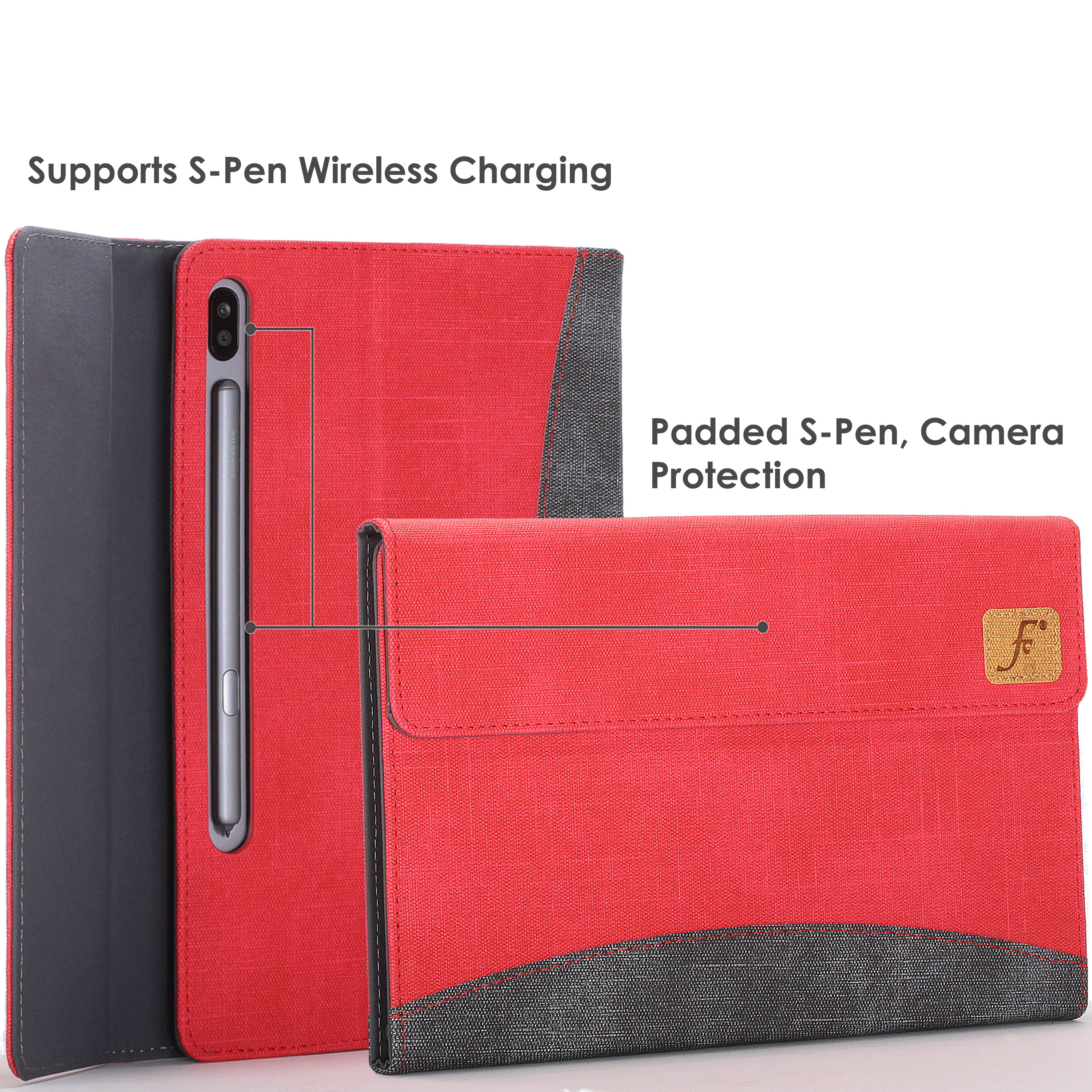Samsung-Galaxy-Tab-S6-10-5-Case-Cover-Stand-with-Document-Pocket-amp-Sleep-Wake thumbnail 19