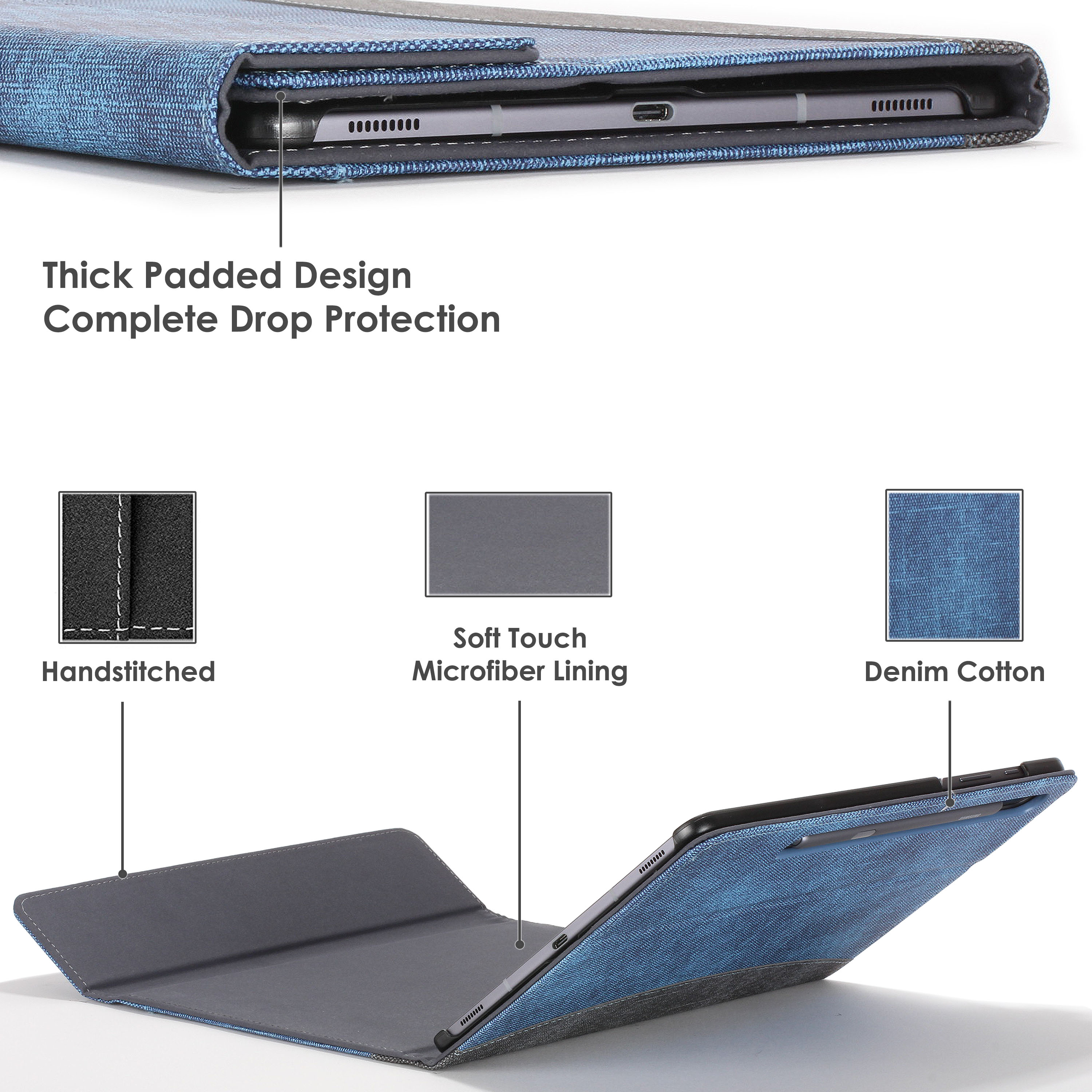 Samsung-Galaxy-Tab-S6-10-5-Case-Cover-Stand-with-Document-Pocket-amp-Sleep-Wake thumbnail 27