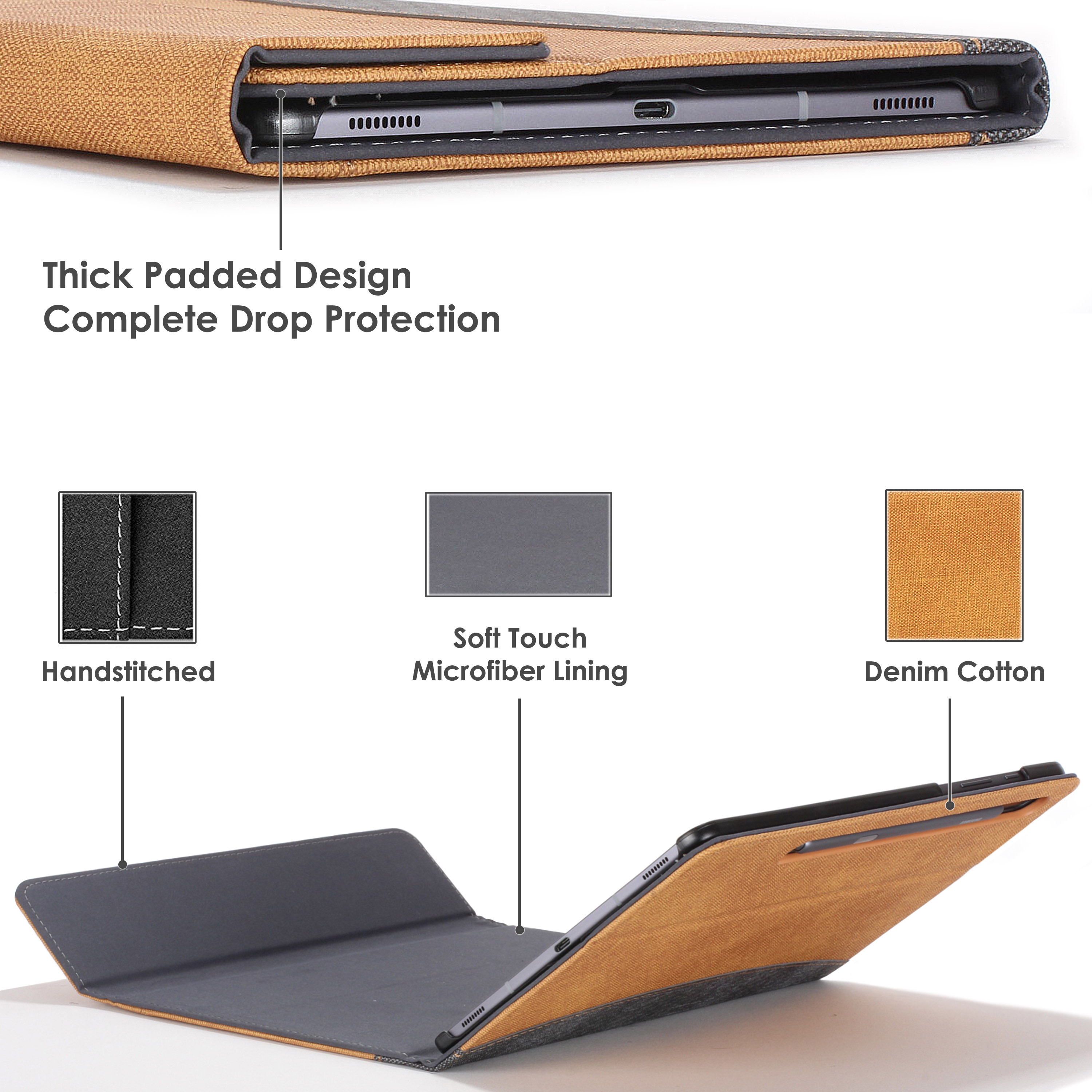 Samsung-Galaxy-Tab-S6-10-5-Case-Cover-Stand-with-Document-Pocket-amp-Sleep-Wake thumbnail 41