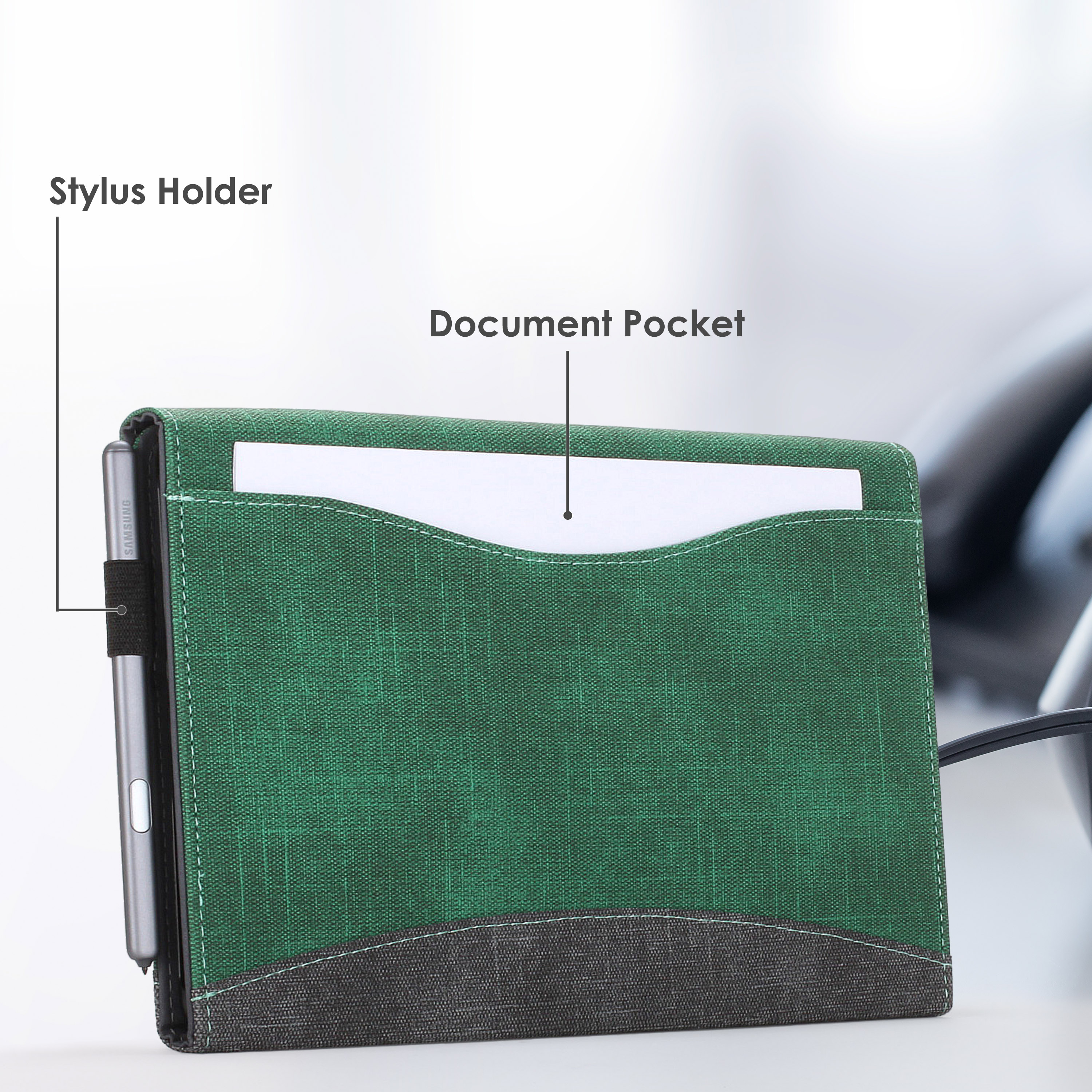 Samsung-Galaxy-Tab-S6-10-5-Case-Cover-Stand-with-Document-Pocket-Stylus thumbnail 15