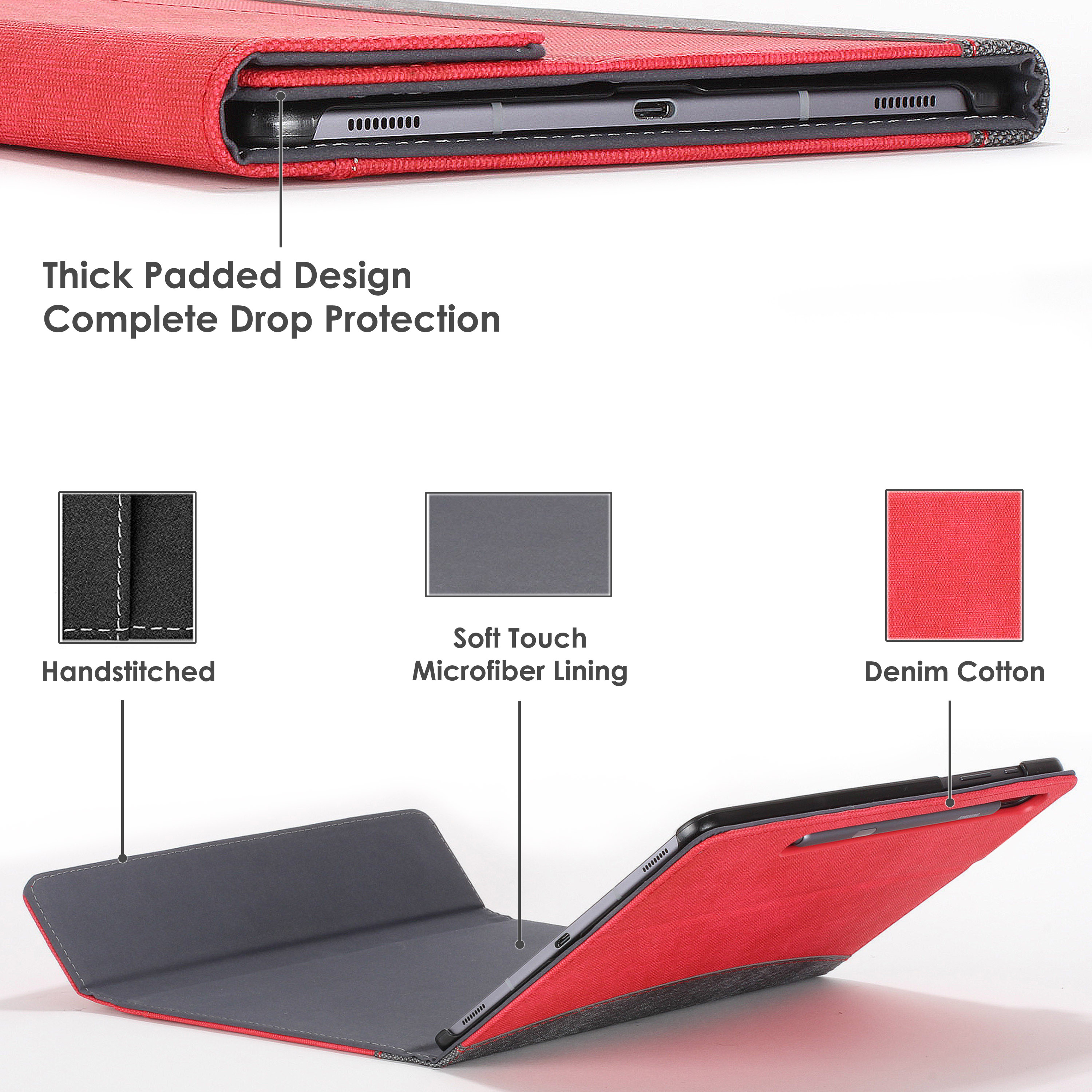 Samsung-Galaxy-Tab-S6-10-5-Case-Cover-Stand-with-Document-Pocket-Stylus thumbnail 22