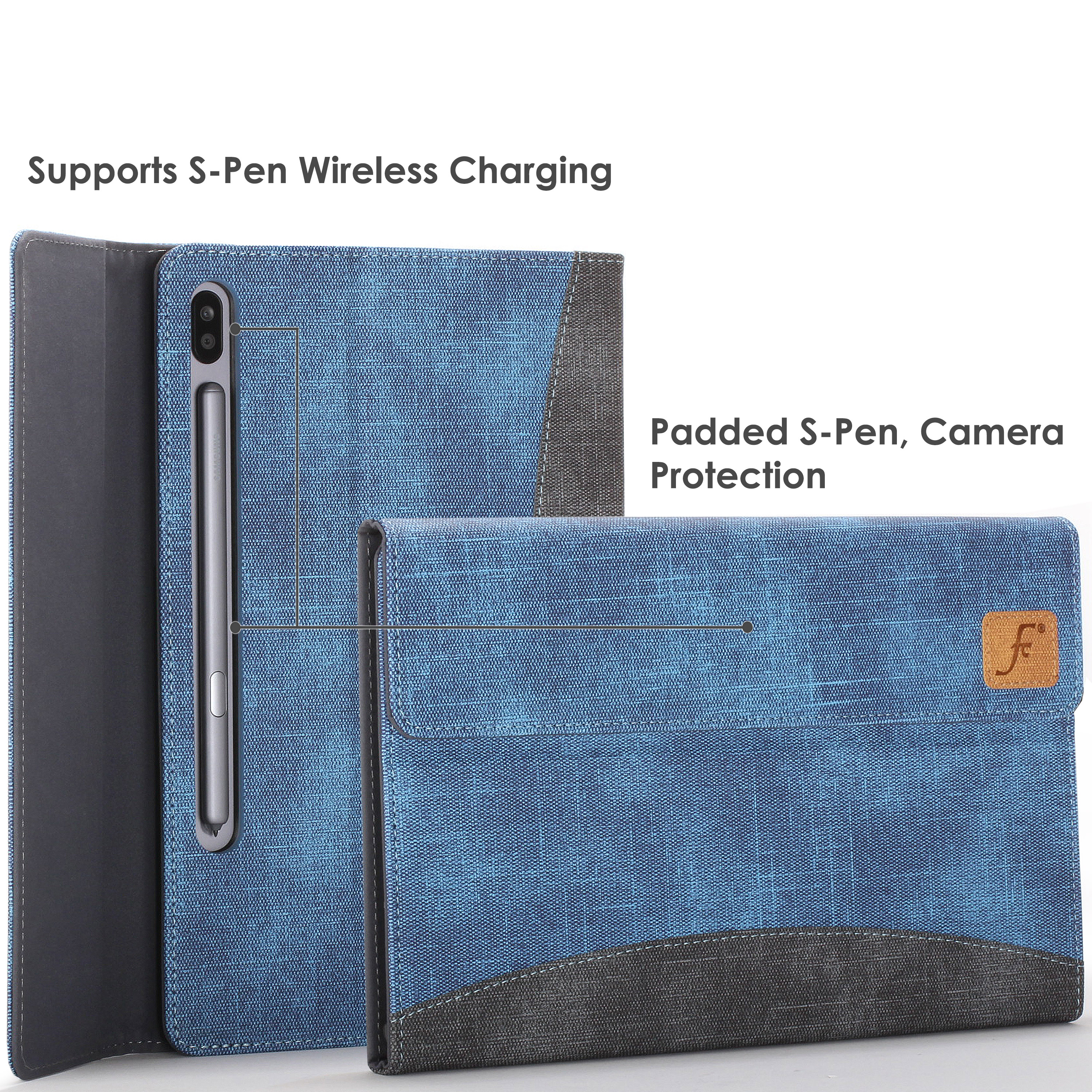 Samsung-Galaxy-Tab-S6-10-5-Case-Cover-Stand-with-Document-Pocket-Stylus thumbnail 29