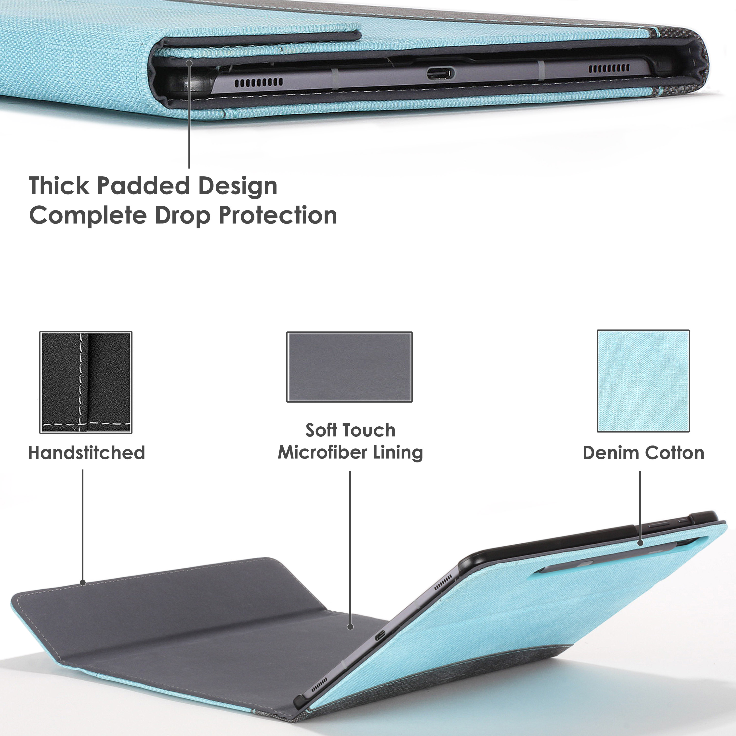 Samsung-Galaxy-Tab-S6-10-5-Case-Cover-Stand-with-Document-Pocket-Stylus thumbnail 38