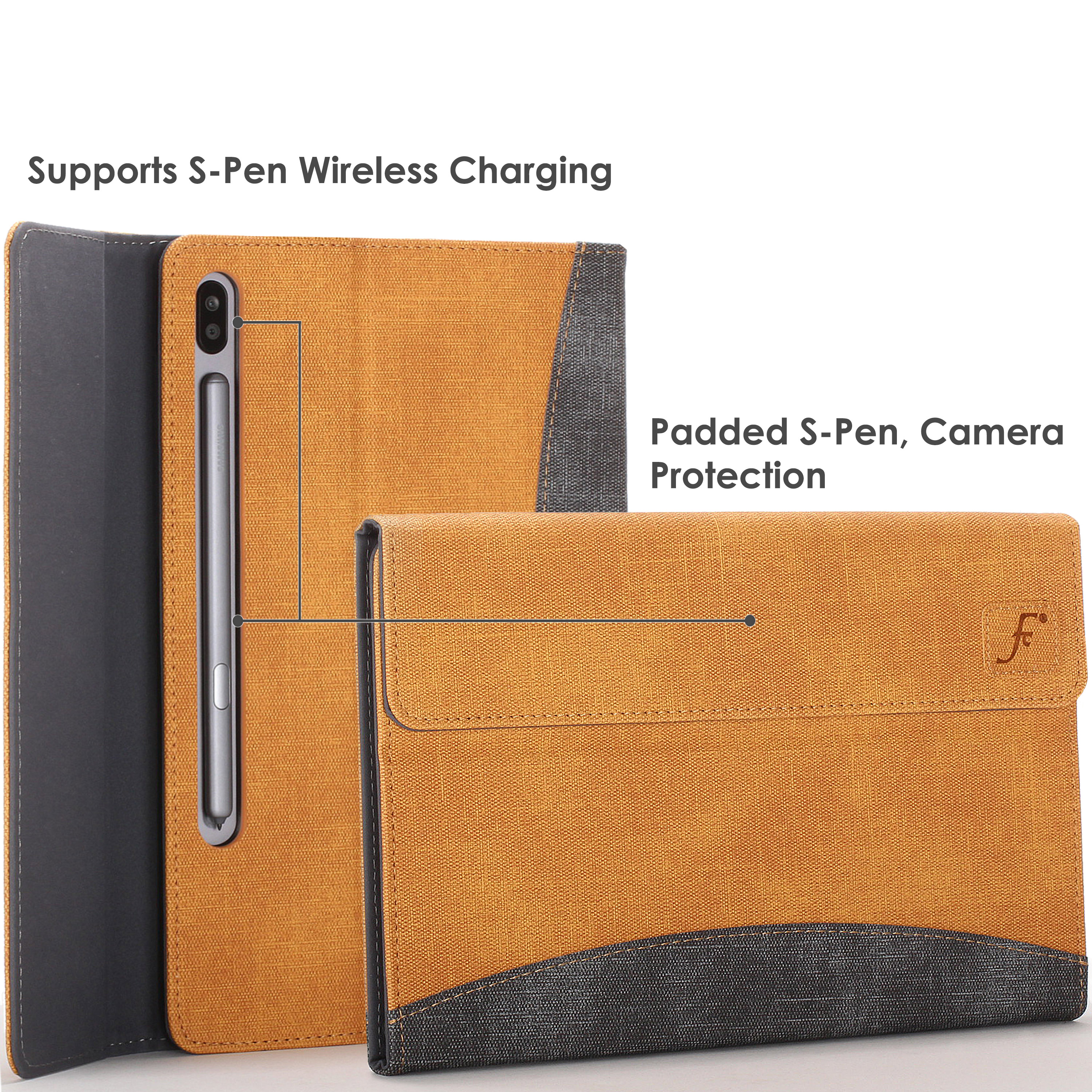 Samsung-Galaxy-Tab-S6-10-5-Case-Cover-Stand-with-Document-Pocket-Stylus thumbnail 45