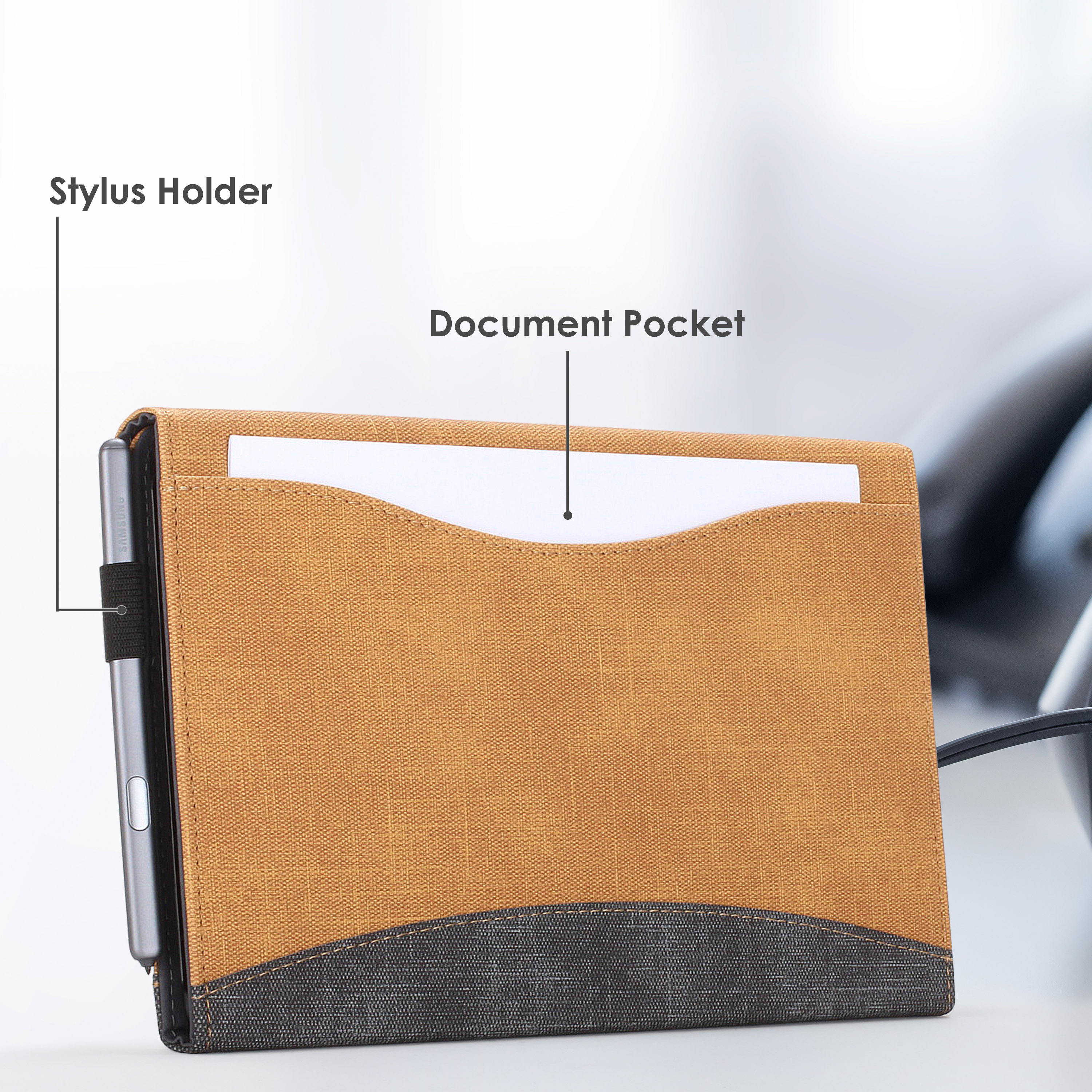 Samsung-Galaxy-Tab-S6-10-5-Case-Cover-Stand-with-Document-Pocket-Stylus thumbnail 47