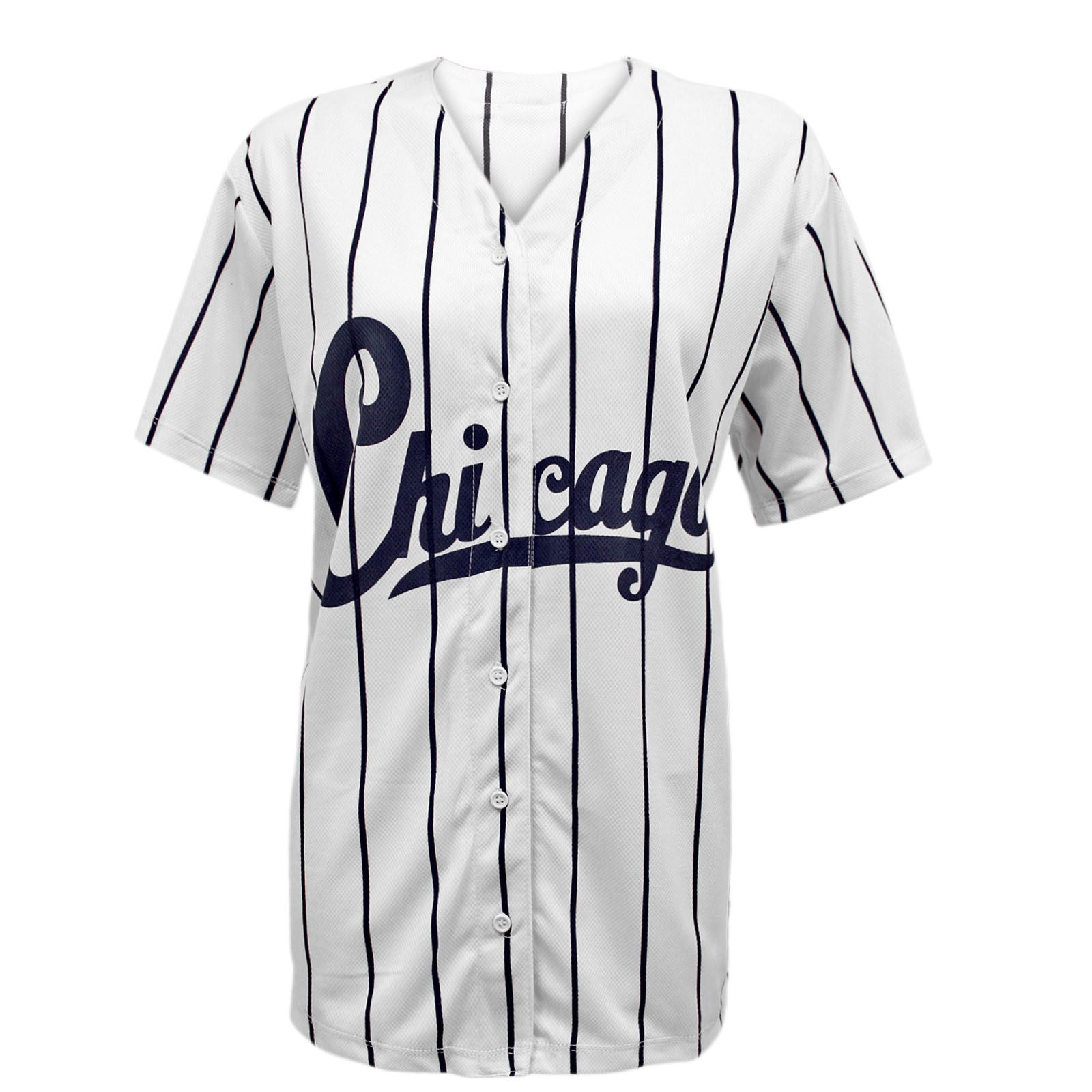 femmes chicago rayures am ricain baseball universit haut jersey t shirt ebay. Black Bedroom Furniture Sets. Home Design Ideas
